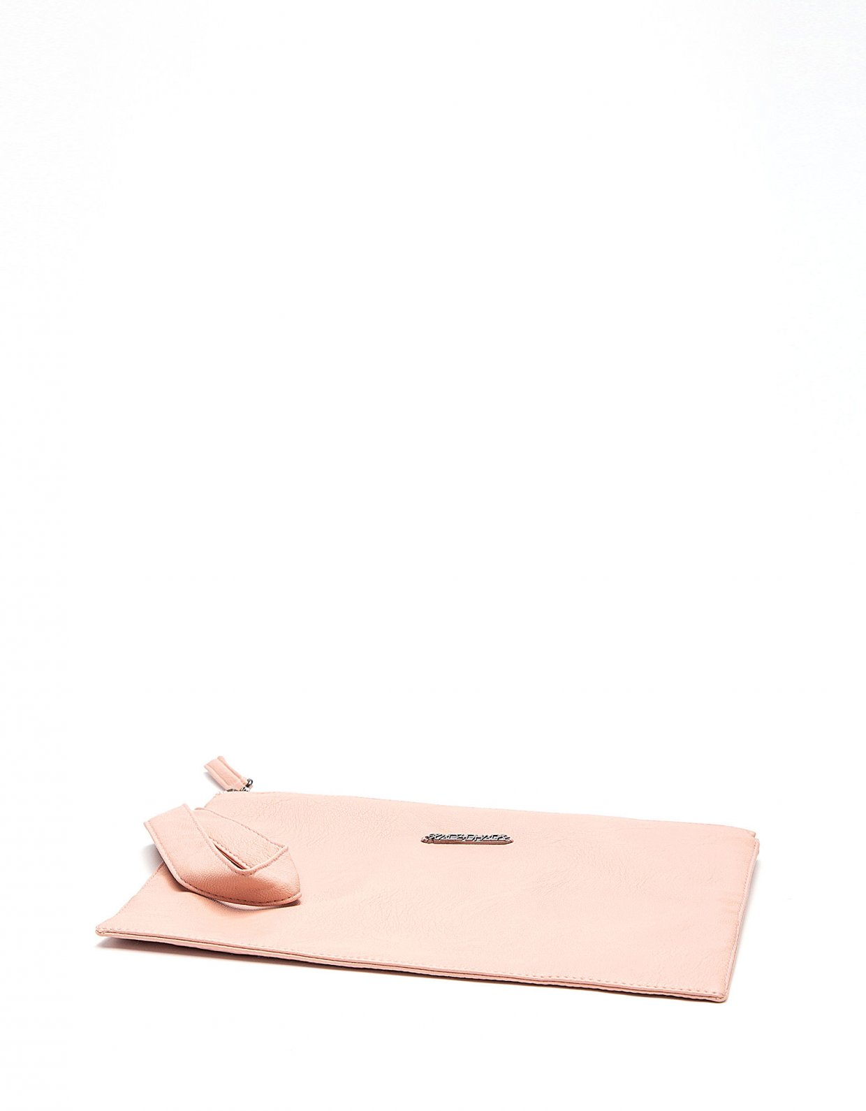 Peace & Chaos Cute eco leather clutch bag dusty pink