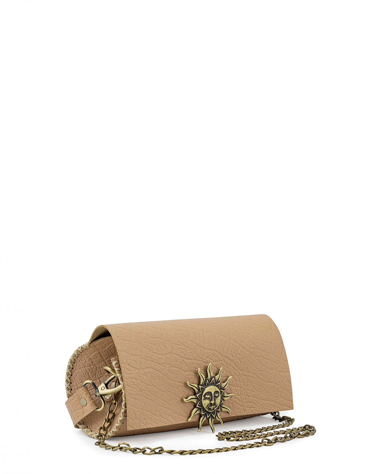 Individual Art Leather Believe barrel bag beige