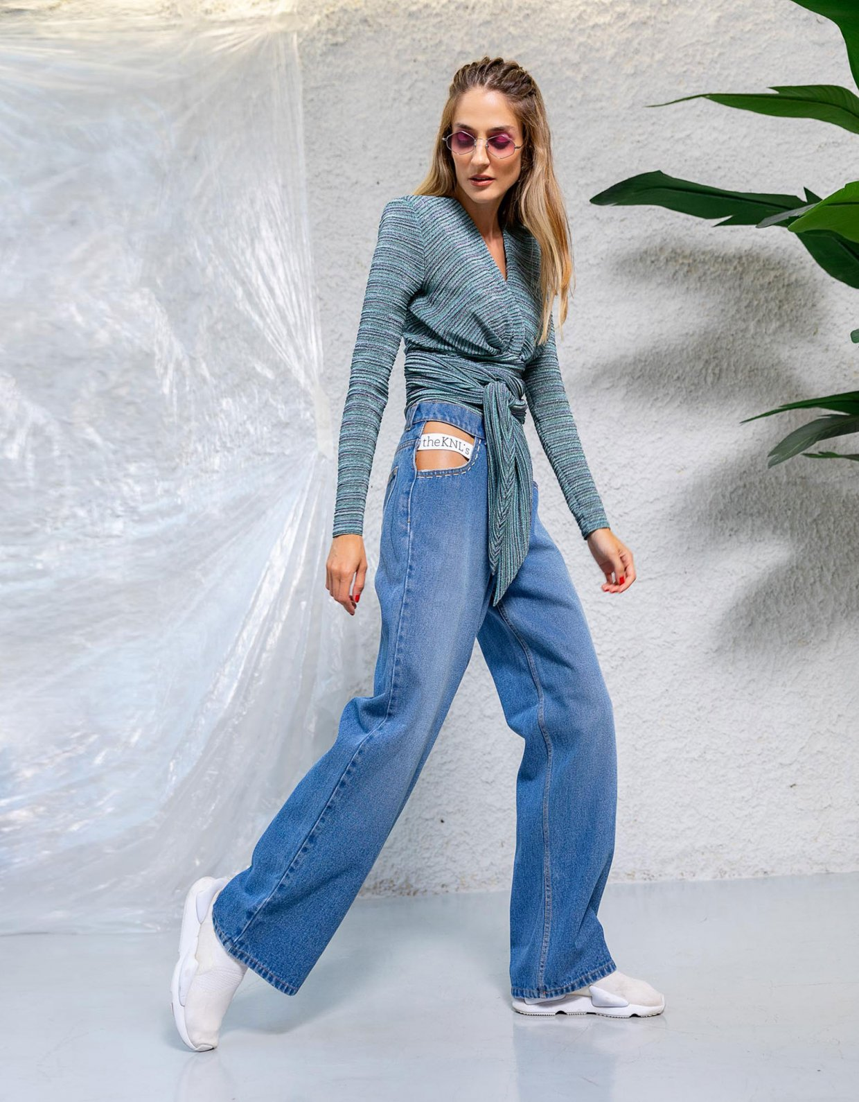 The Knl's Outburst blue wash jeans