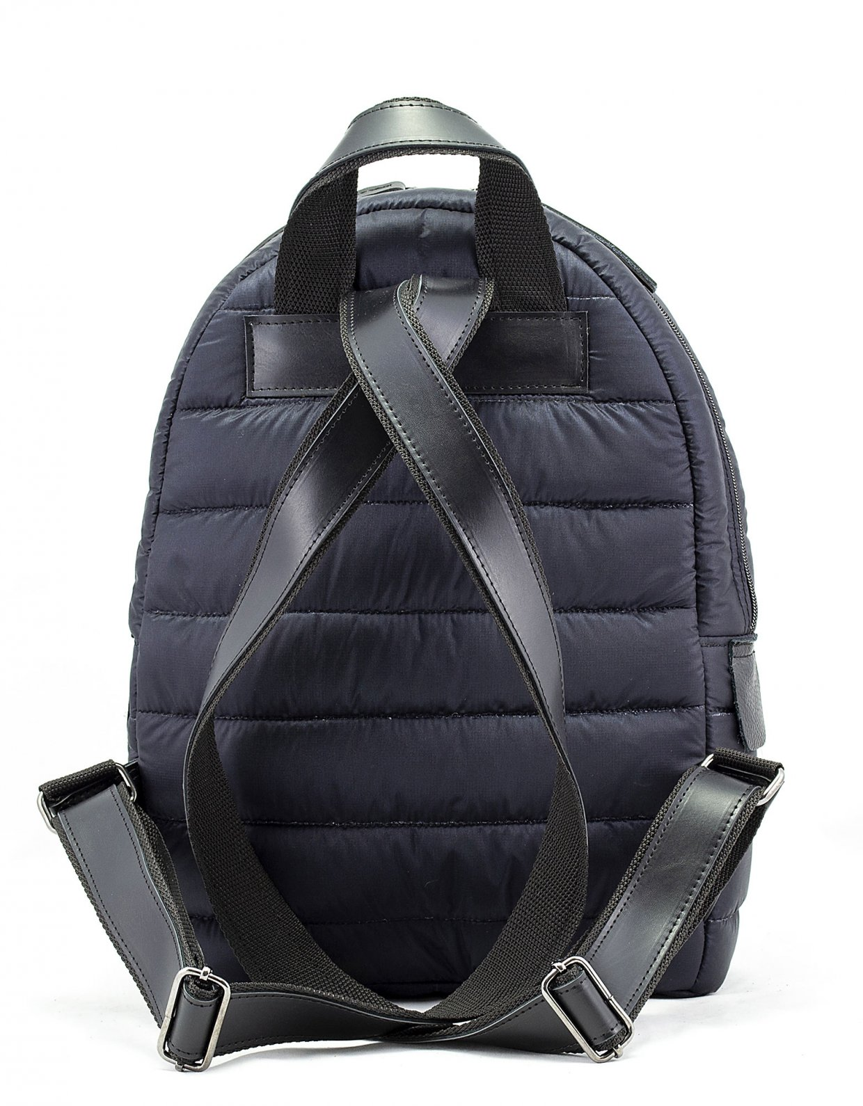 Elena Athanasiou Puffer fly backpack blue-black