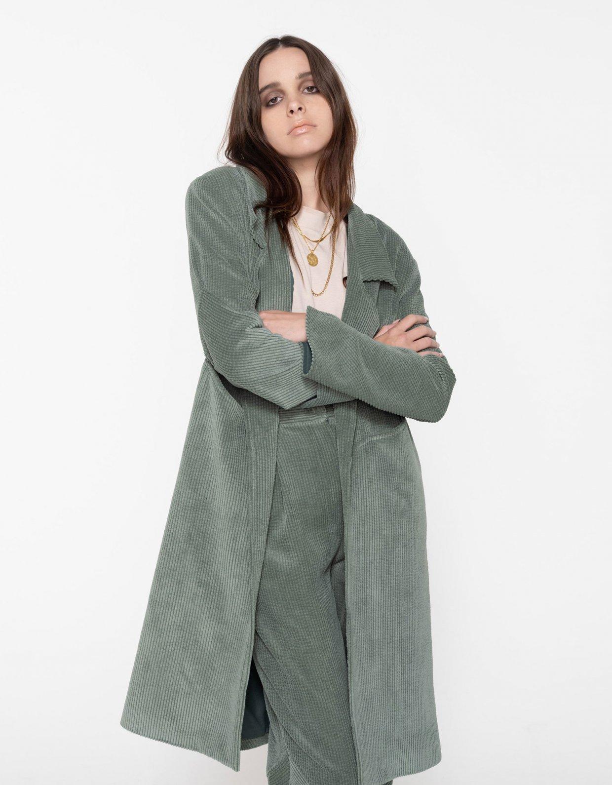 Nadia Rapti Beatles long jacket green