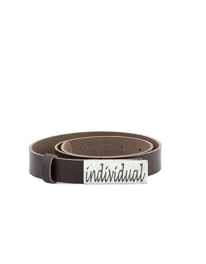 Individual Art Leather Individual belt brown