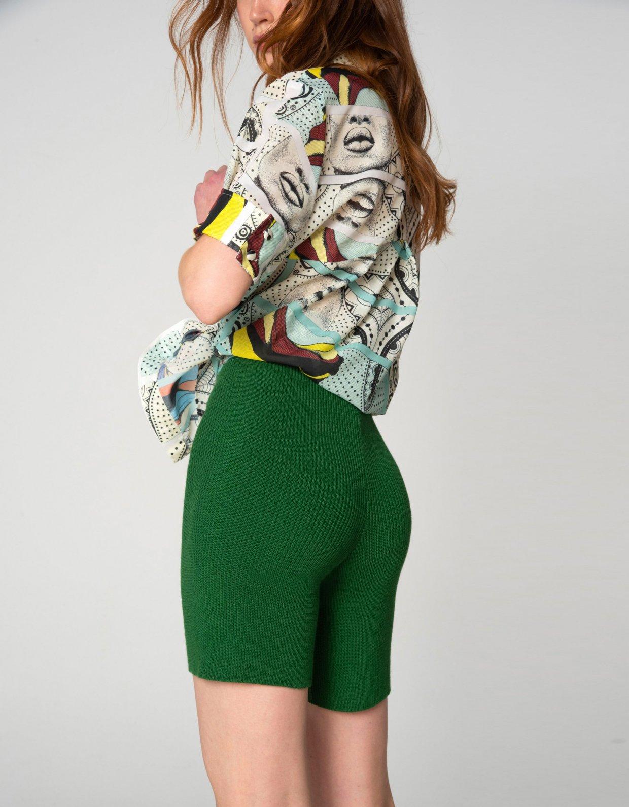 Nadia Rapti Tribes of knit leggings green