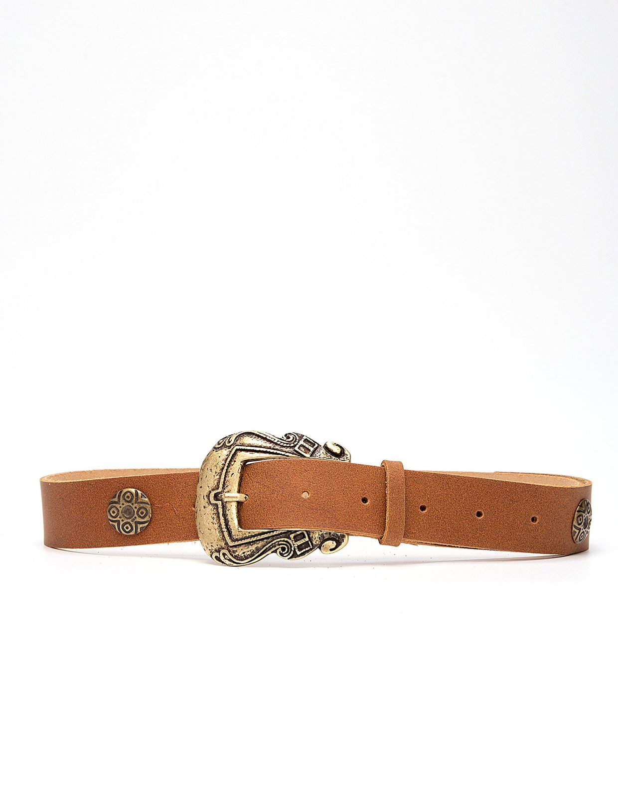 Peace & Chaos Versailles leather belt tanned