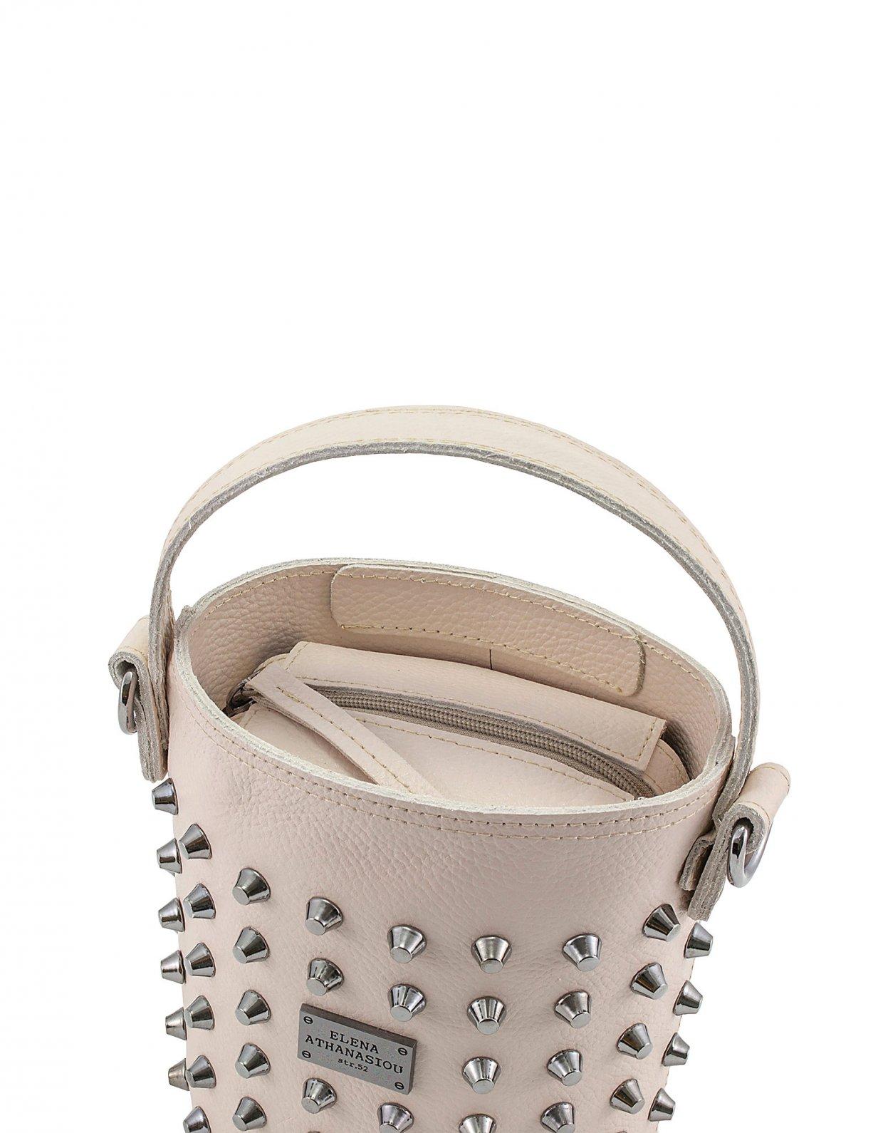 Elena Athanasiou Basket bag small nude