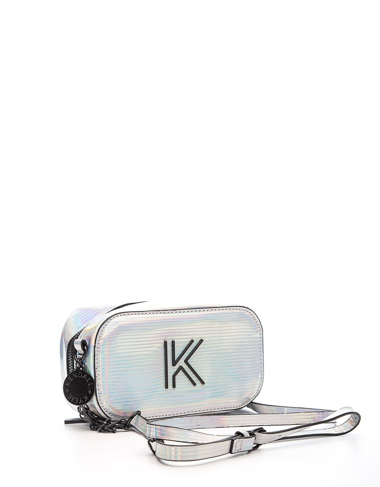 Kendall + Kylie Heather crossbody iridescent striped