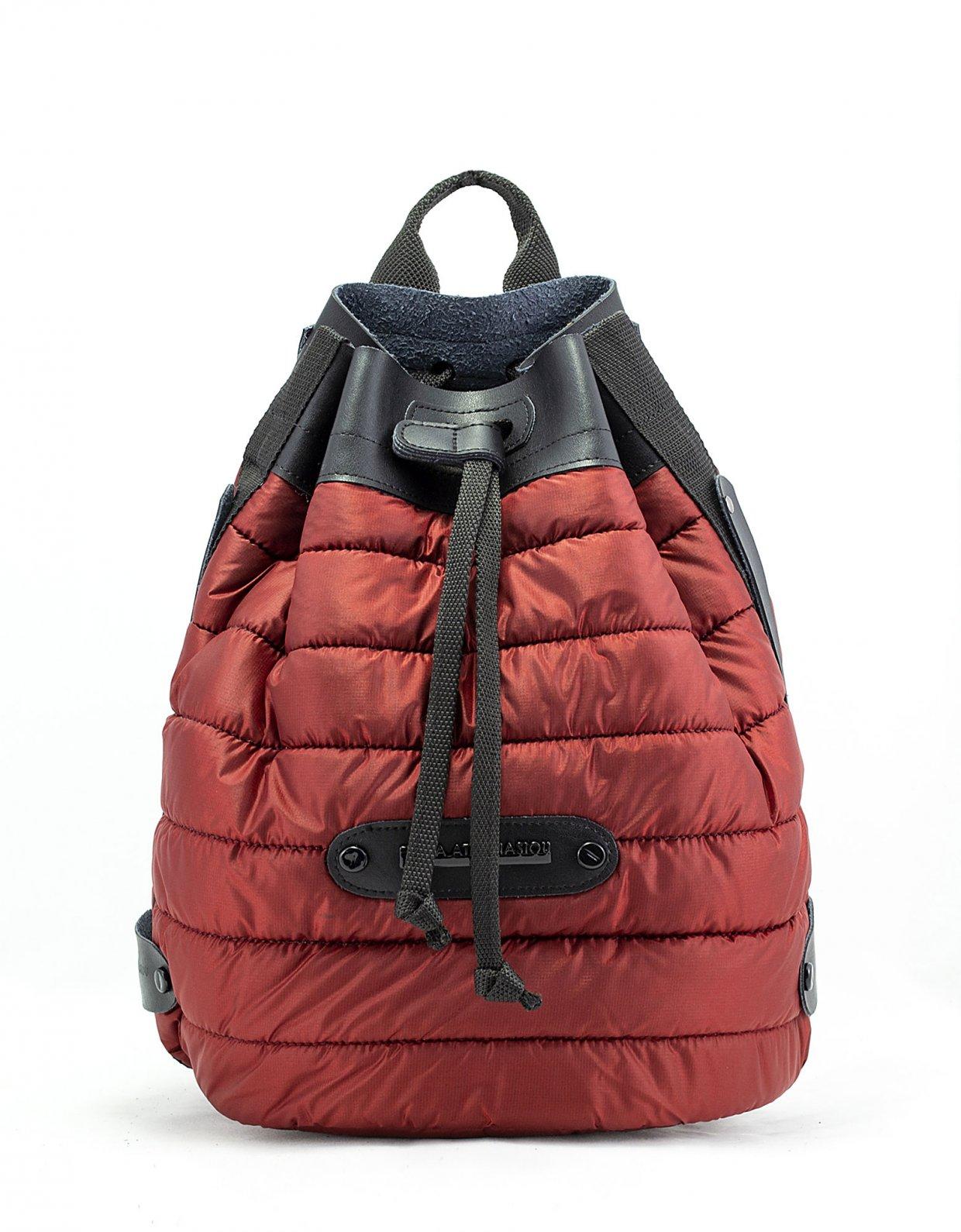 Elena Athanasiou Puffer backpack brick red