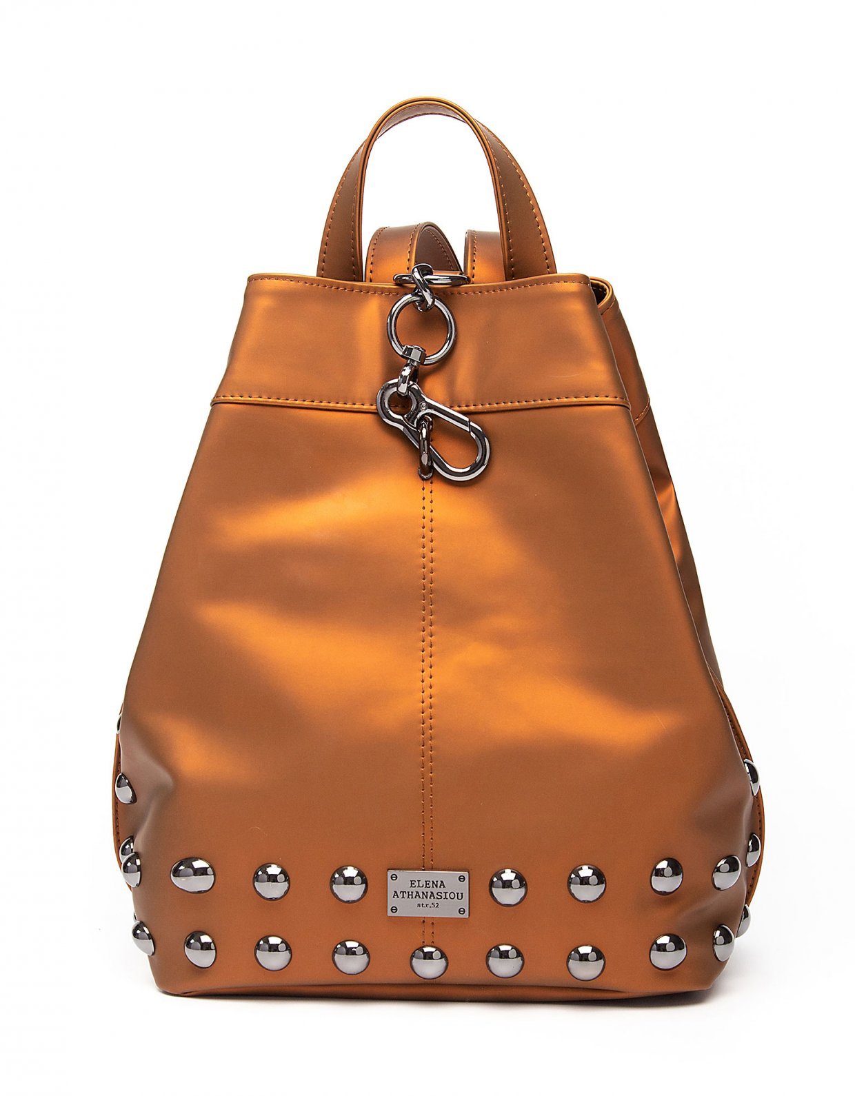 Elena Athanasiou Backpack caramel cognac