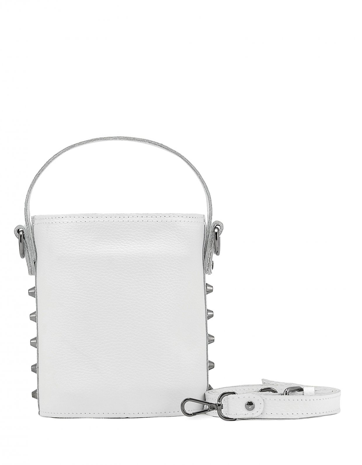 Elena Athanasiou Basket bag small white