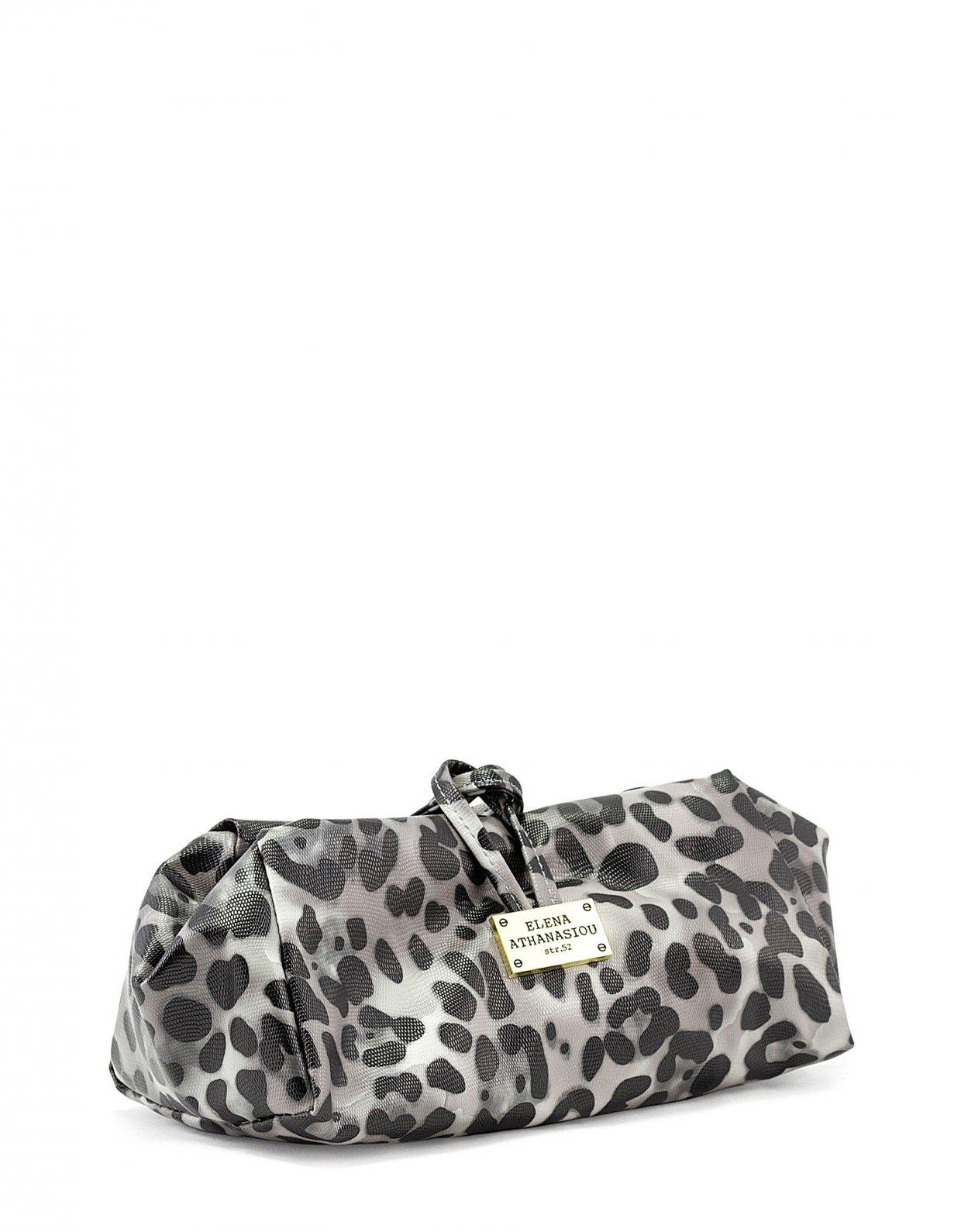 Elena Athanasiou Large lunch bag animal print black