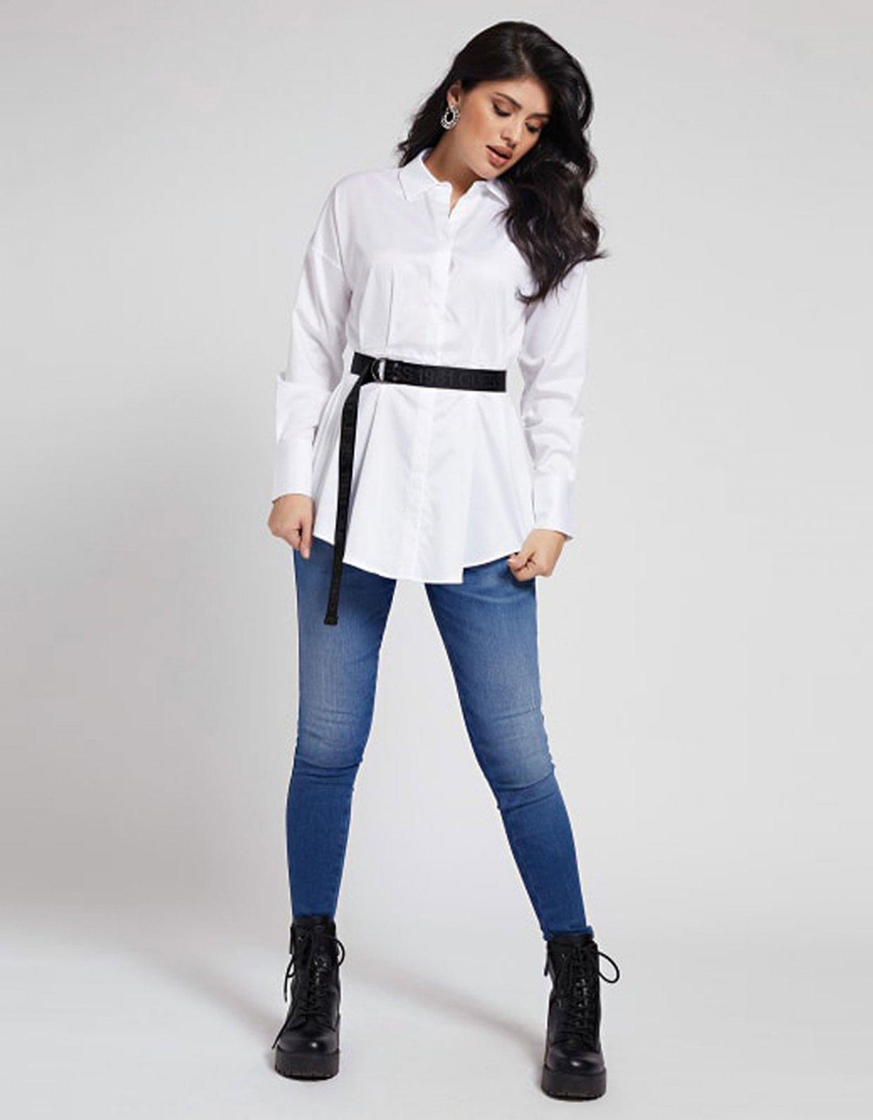 GUESS Rhianna belted shirt