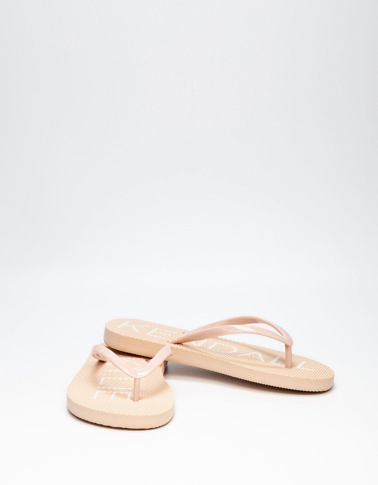 Kendall + Kylie KK Eva thong slippers nude