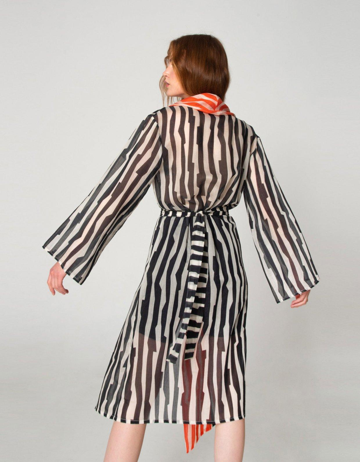 Nadia Rapti Zebras in city kimono