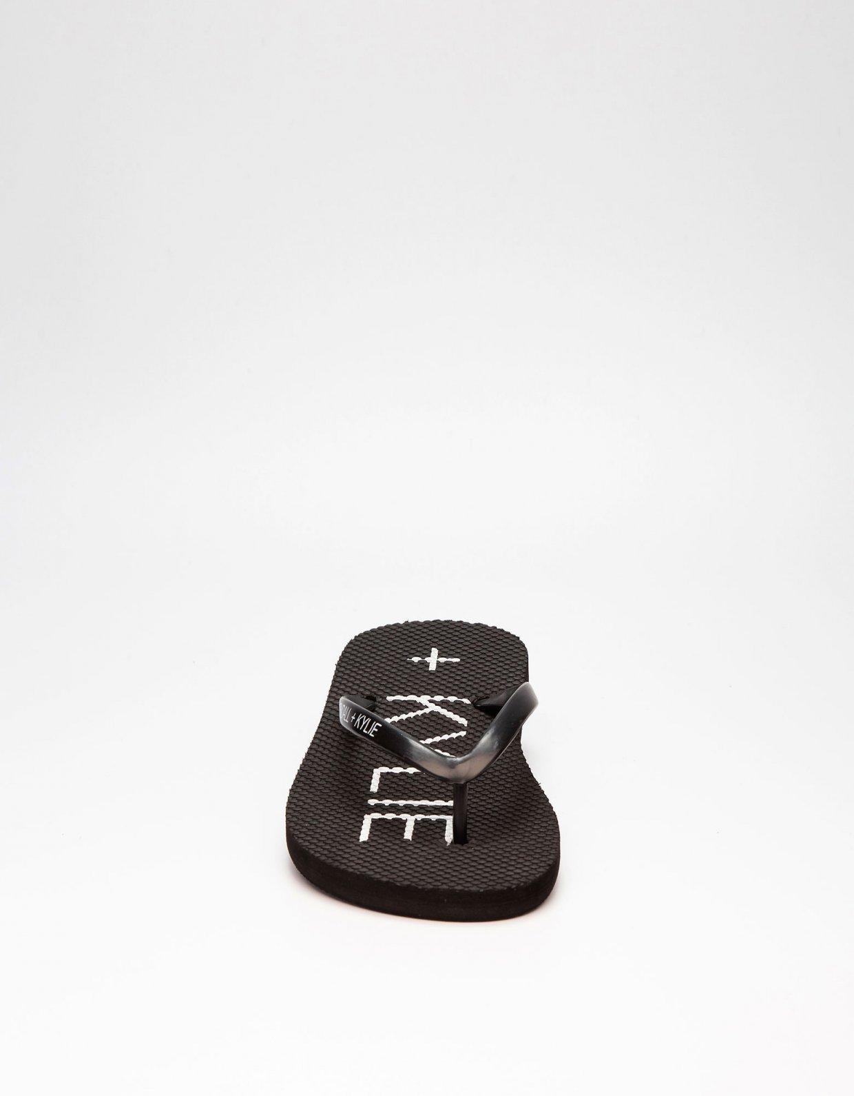 Kendall + Kylie KK Eva thong slippers black
