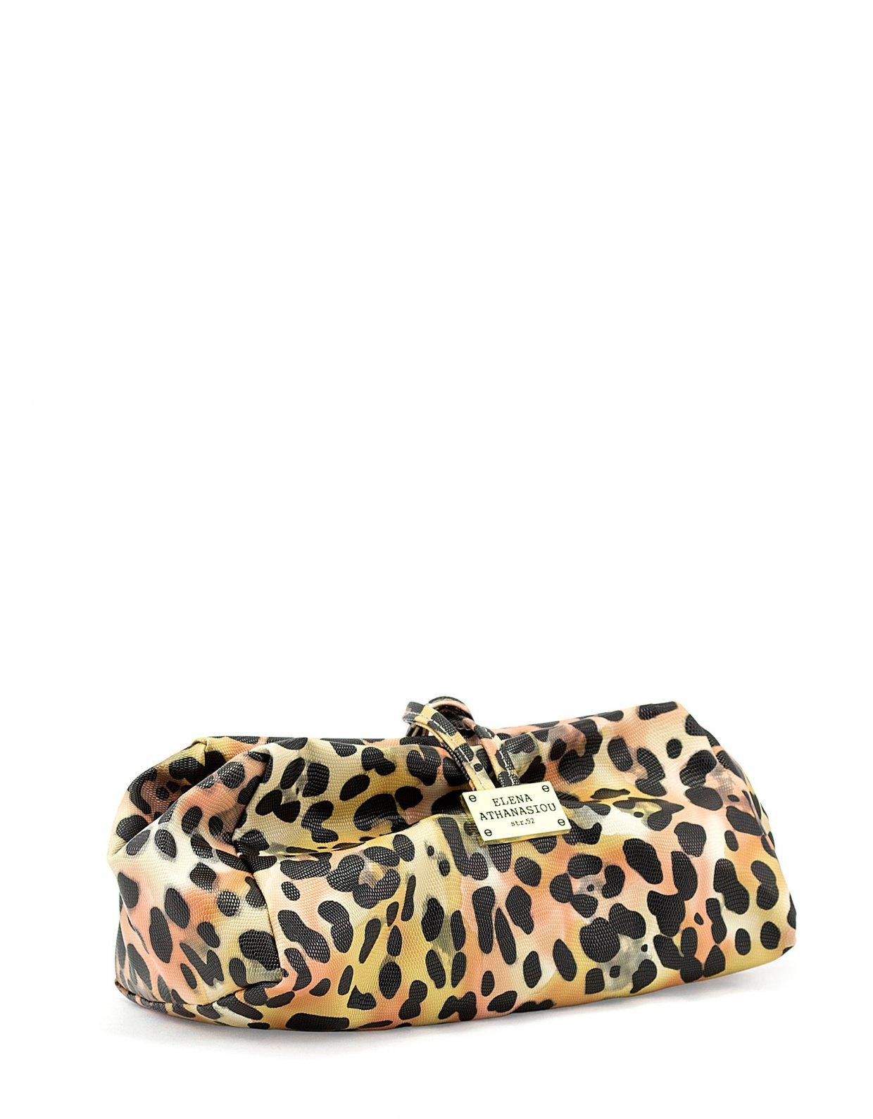 Elena Athanasiou Large lunch bag animal print yellow