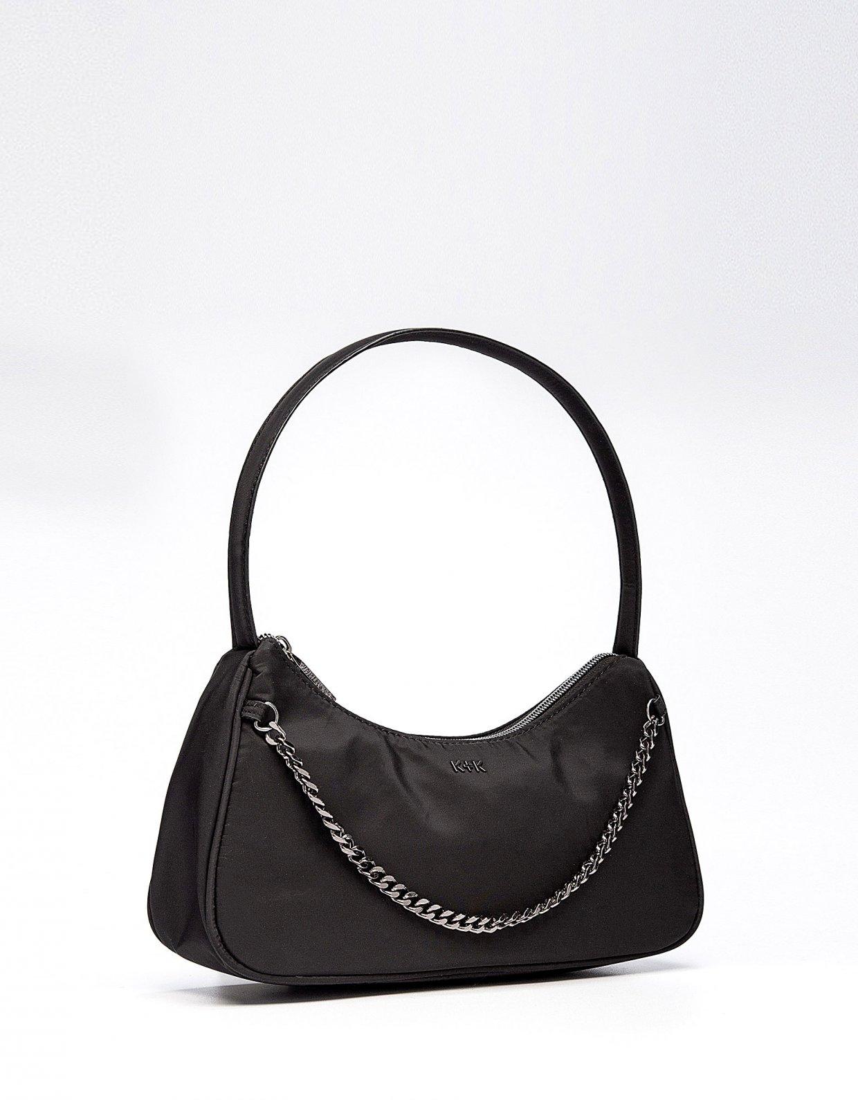 Kendall + Kylie Haisley hobo bag black