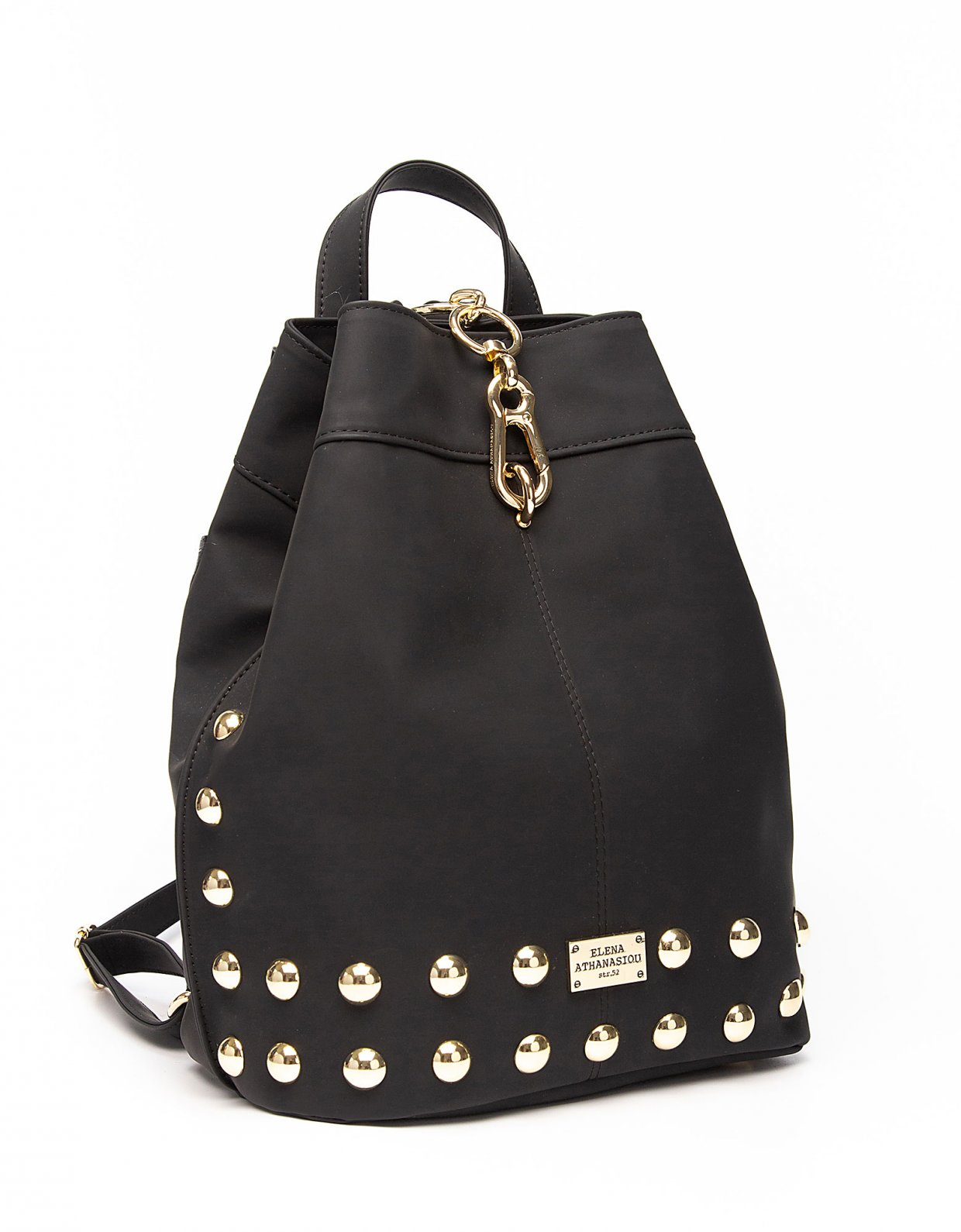 Elena Athanasiou Backpack matte black gold