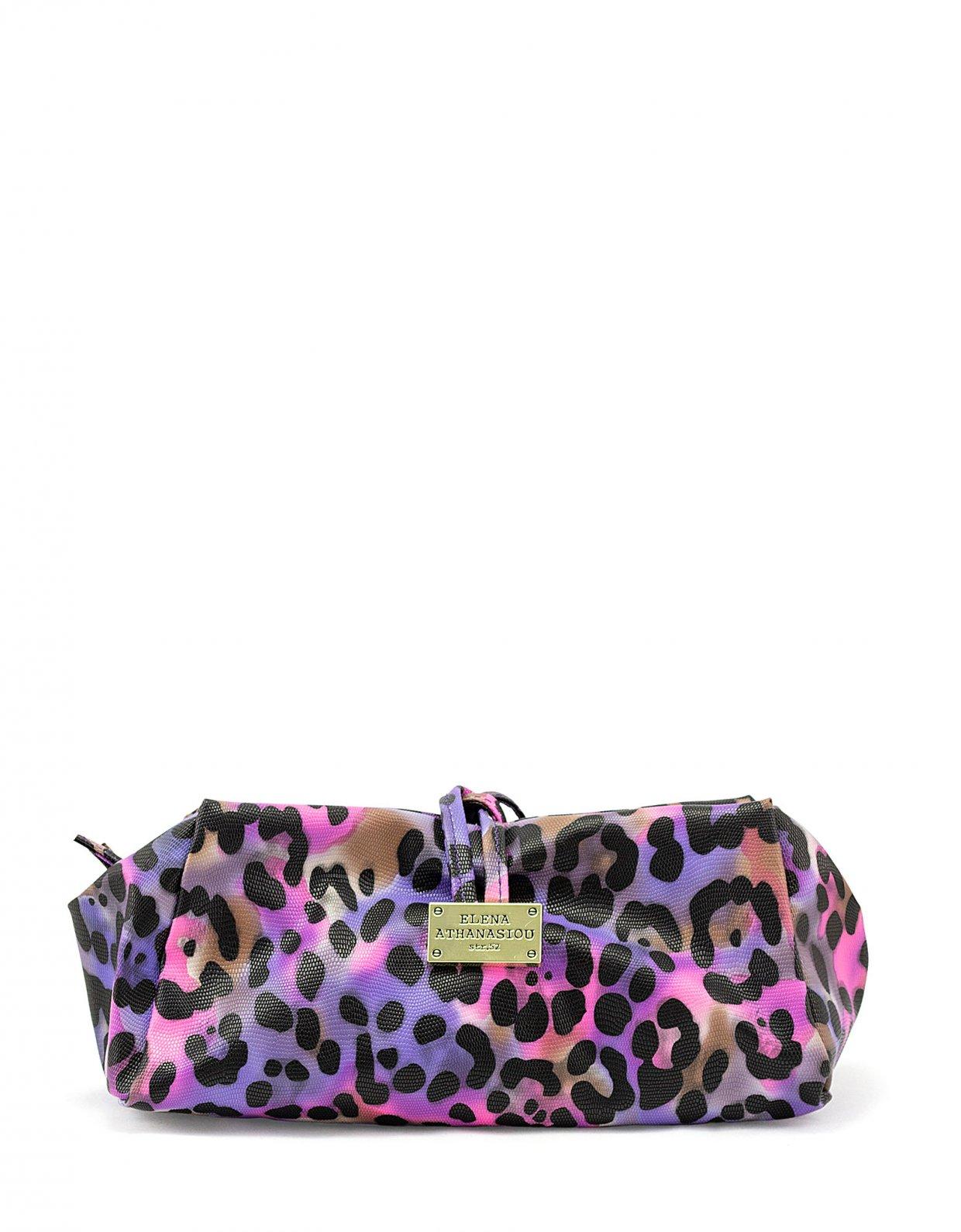 Elena Athanasiou Large lunch bag animal print purple