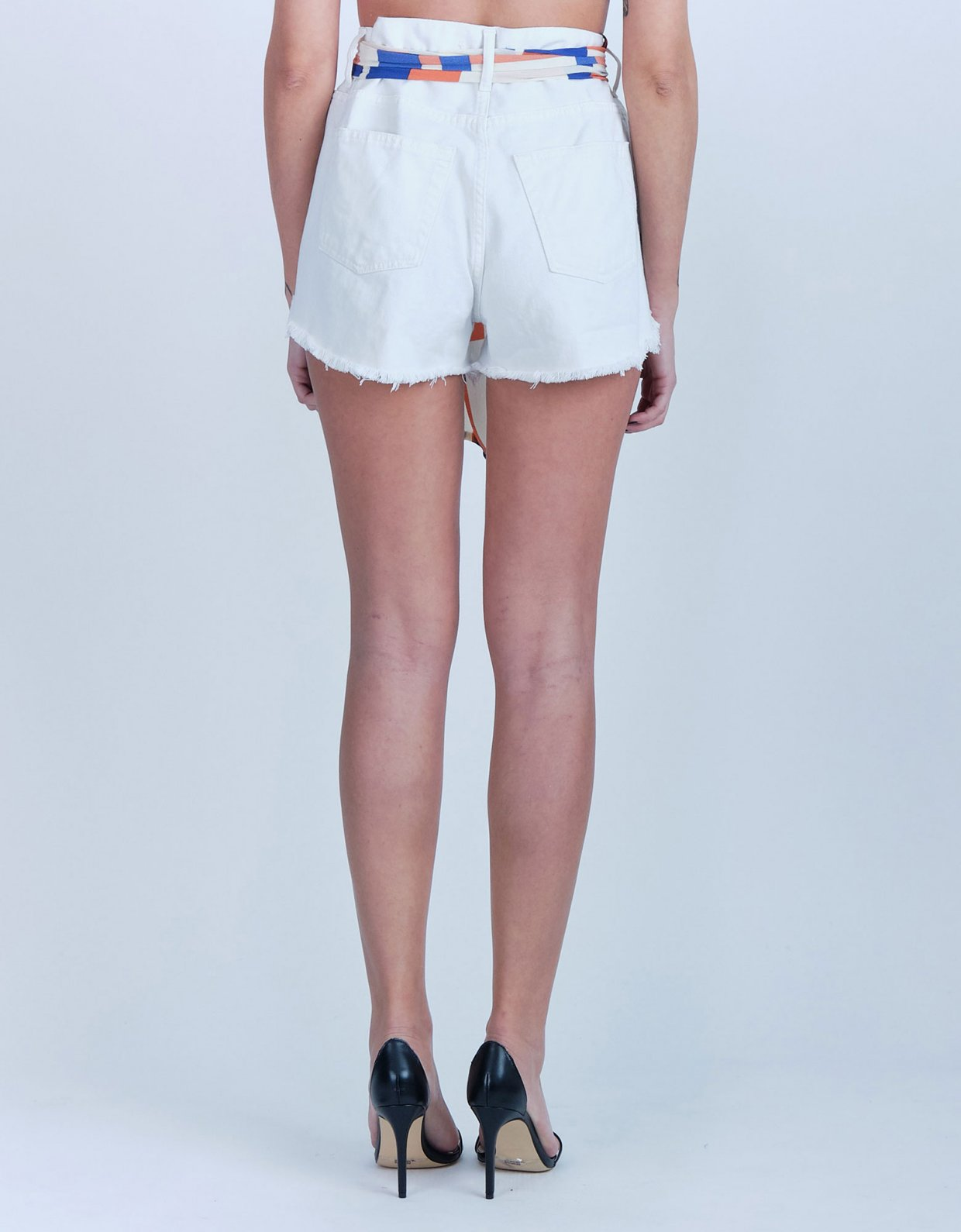 Salt & Pepper Ion off white ripped denim shorts