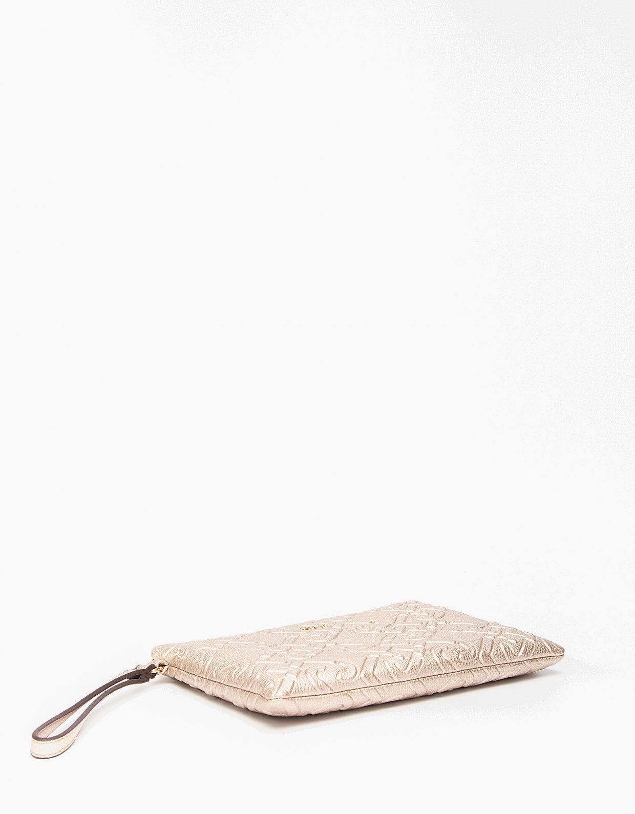 Liu Jo Clutch bag with logo light gold