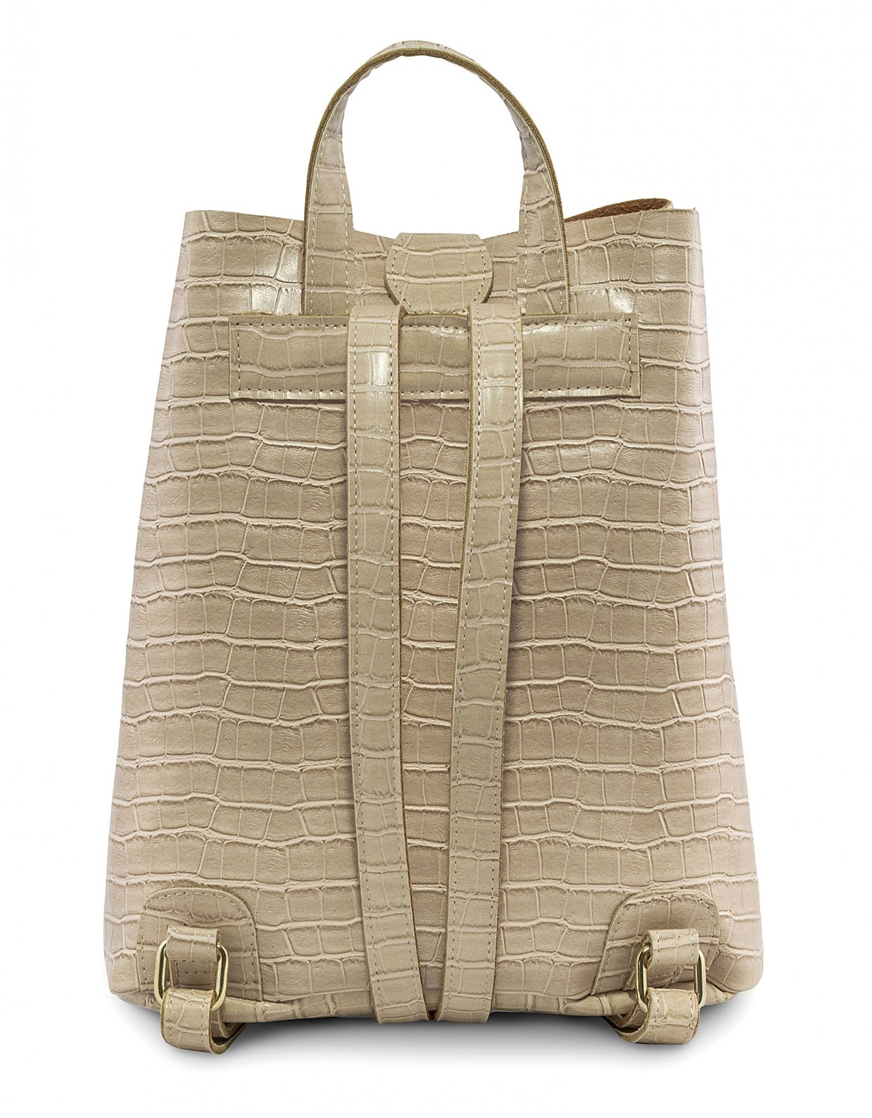 Elena Athanasiou Croco backpack creme