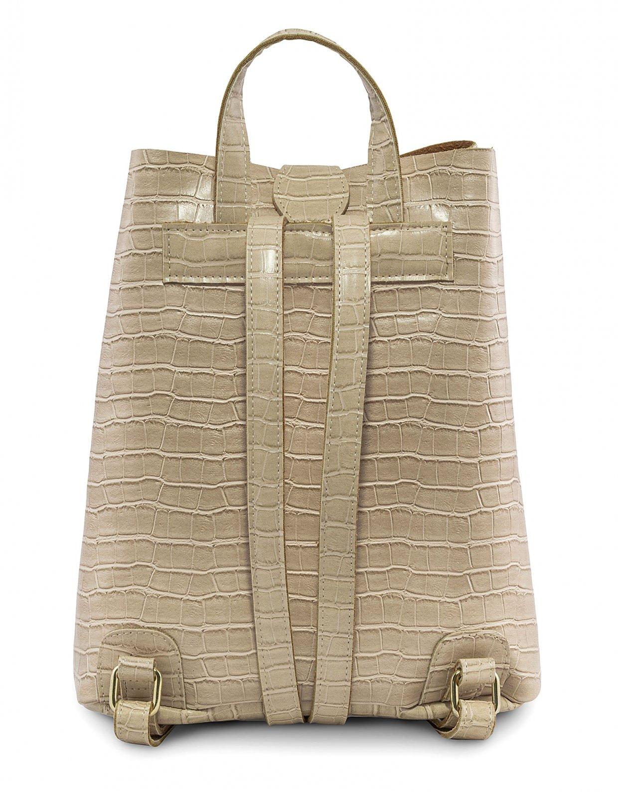 Elena Athanasiou Croco backpack creme