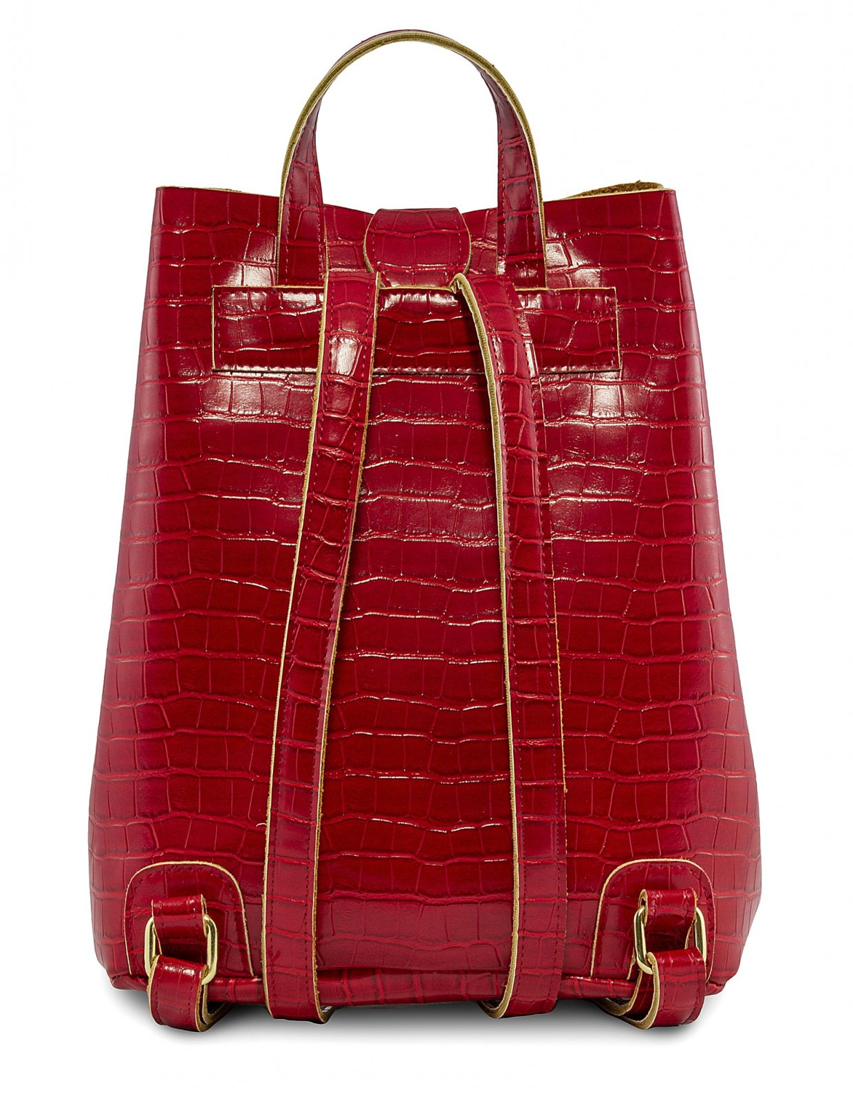 Elena Athanasiou Croco backpack red
