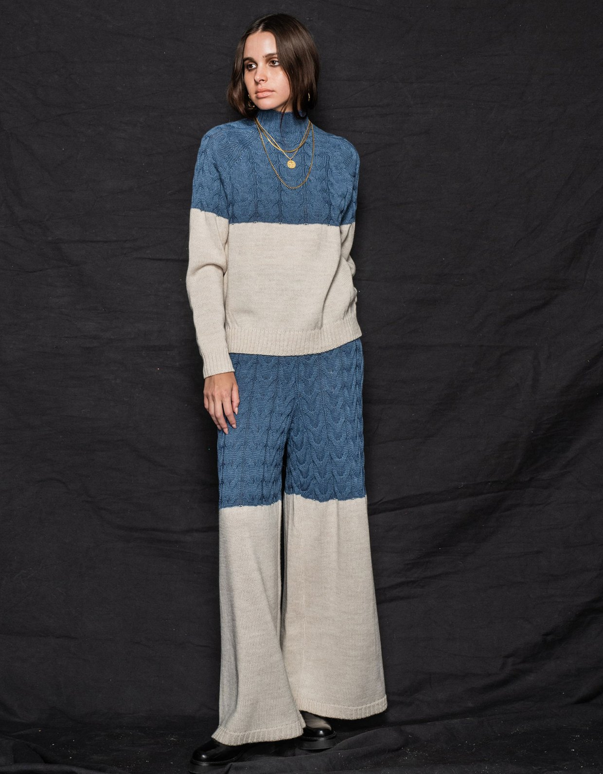 Nadia Rapti Offspring pants blue-beige