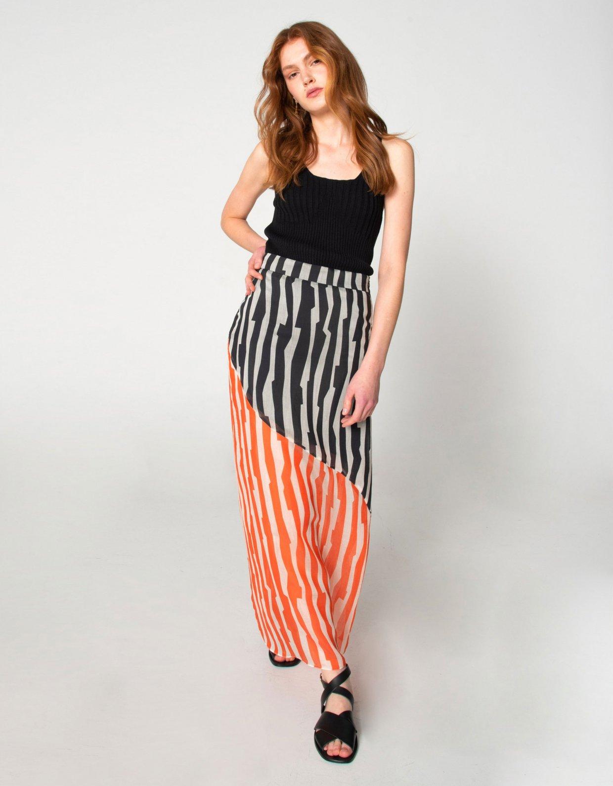 Nadia Rapti Zebras in city skirt