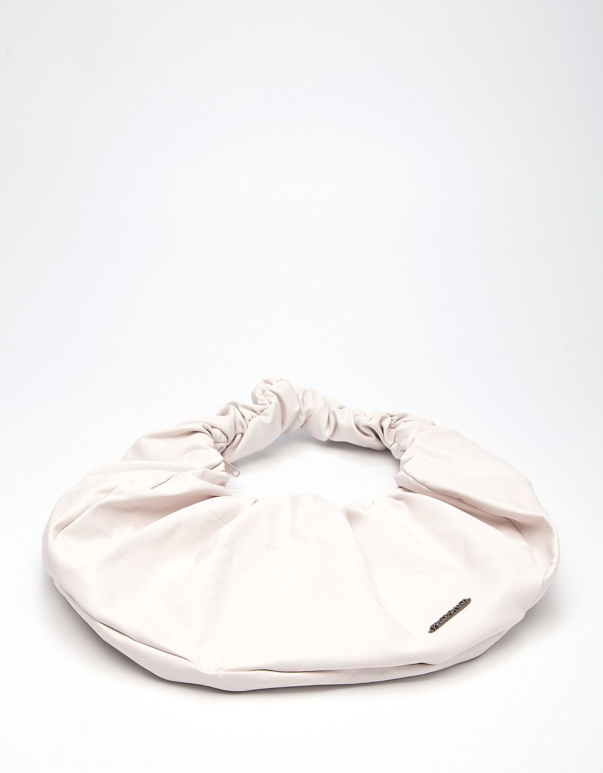 Peace & Chaos Eco leather croissant bag off white