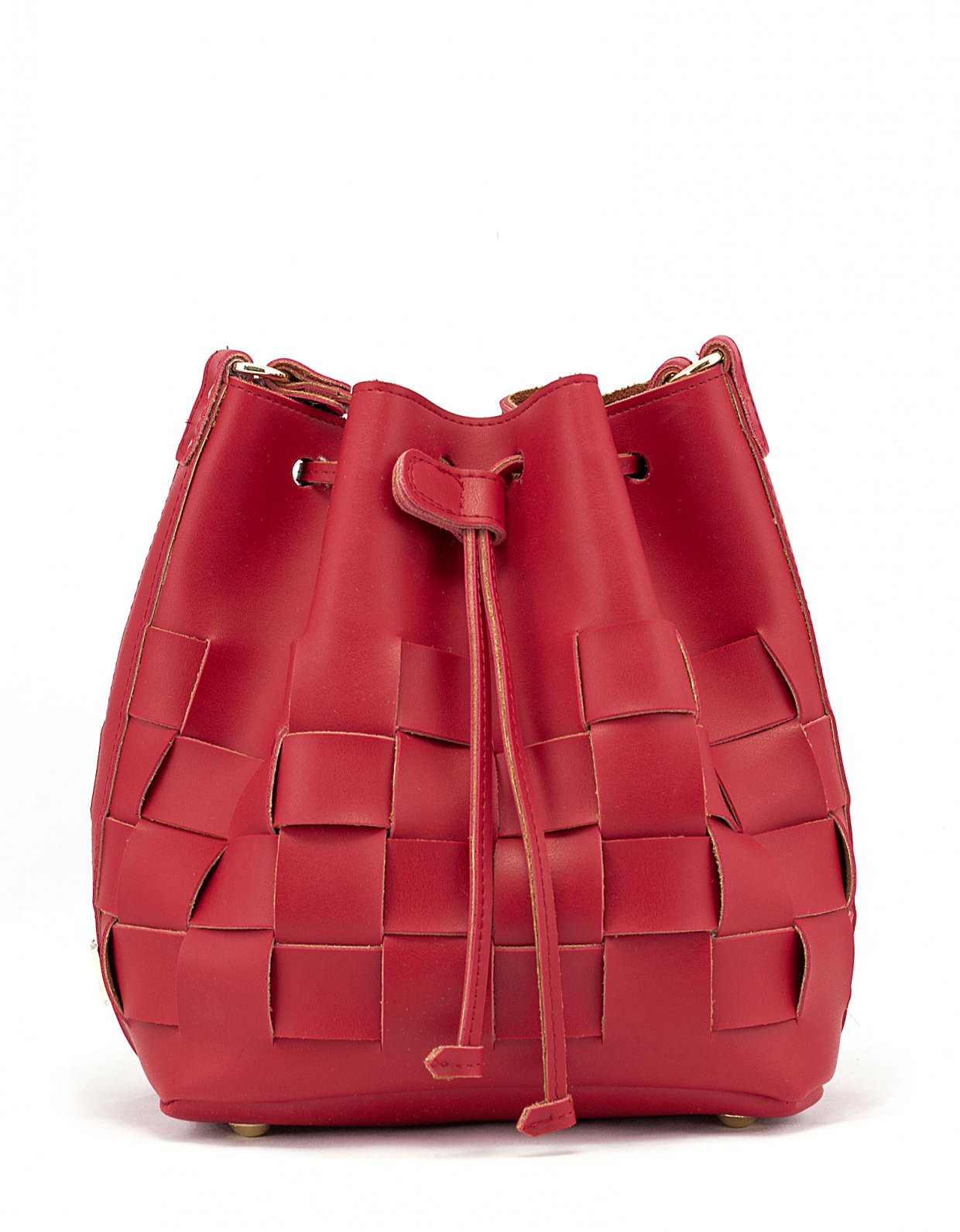 Elena Athanasiou Straw pouch bag red