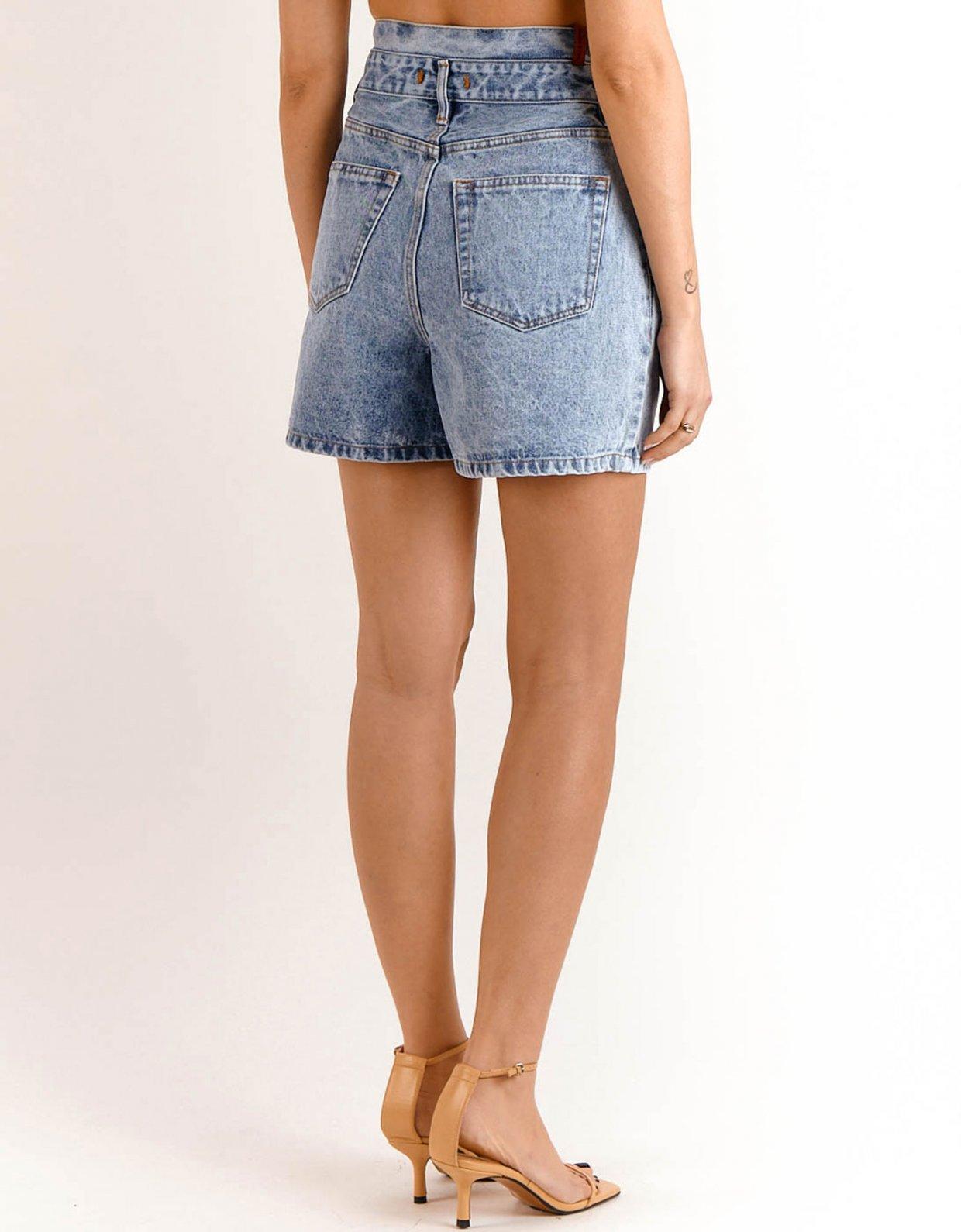 Salt & Pepper Evelyn barrel denim shorts