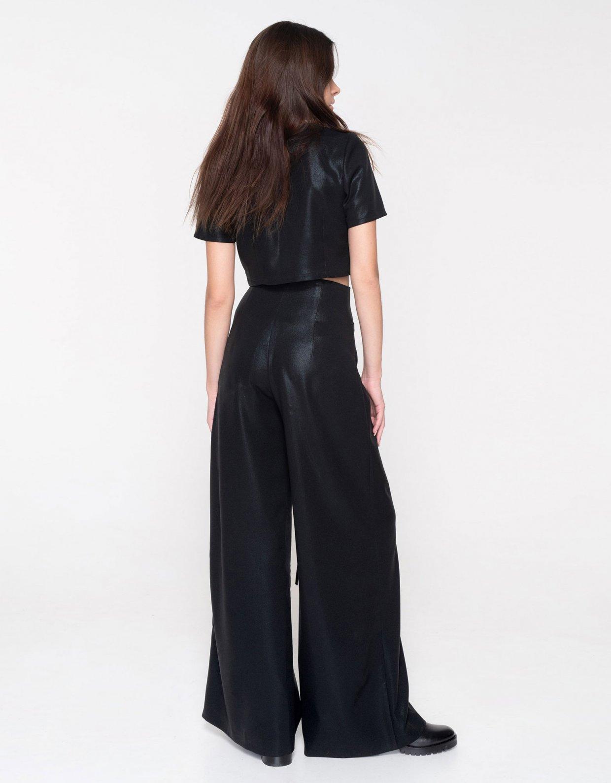 Nadia Rapti Metallic Black Sabbath pants