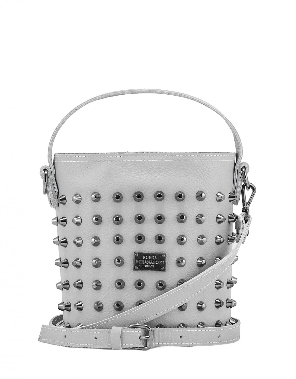 Elena Athanasiou Basket bag large ice grey