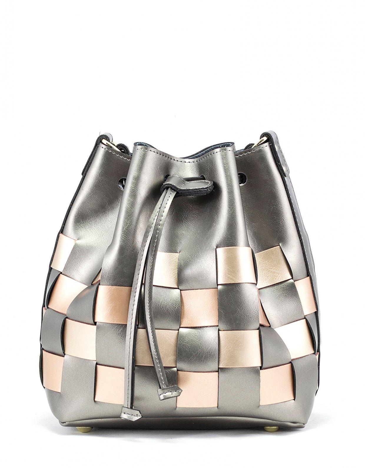Elena Athanasiou Straw pouch bag multicolor grey