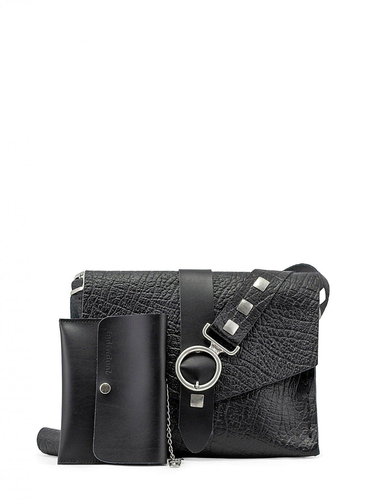 Individual Art Leather Lotus bag black