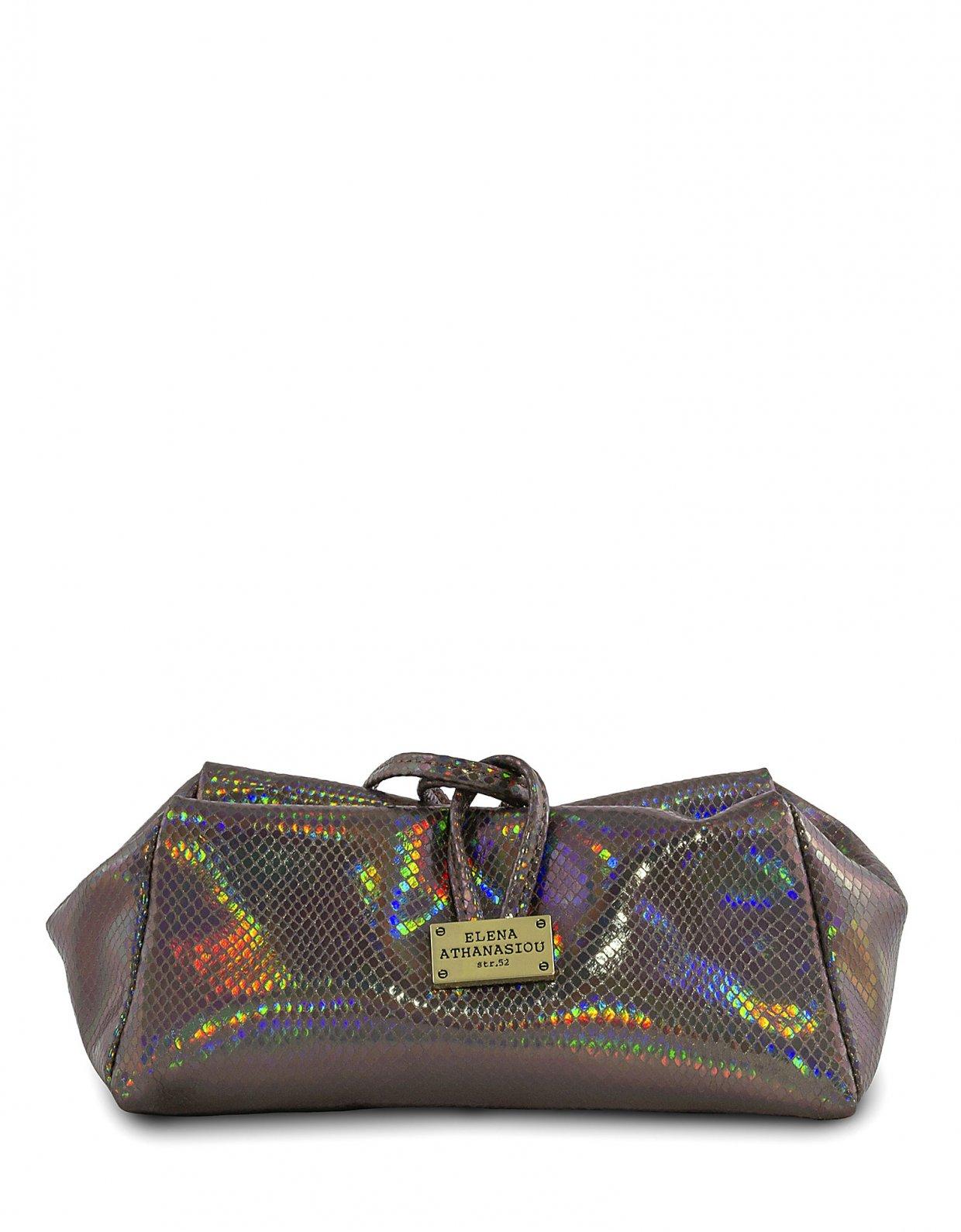 Elena Athanasiou Glitter purple lunch bag