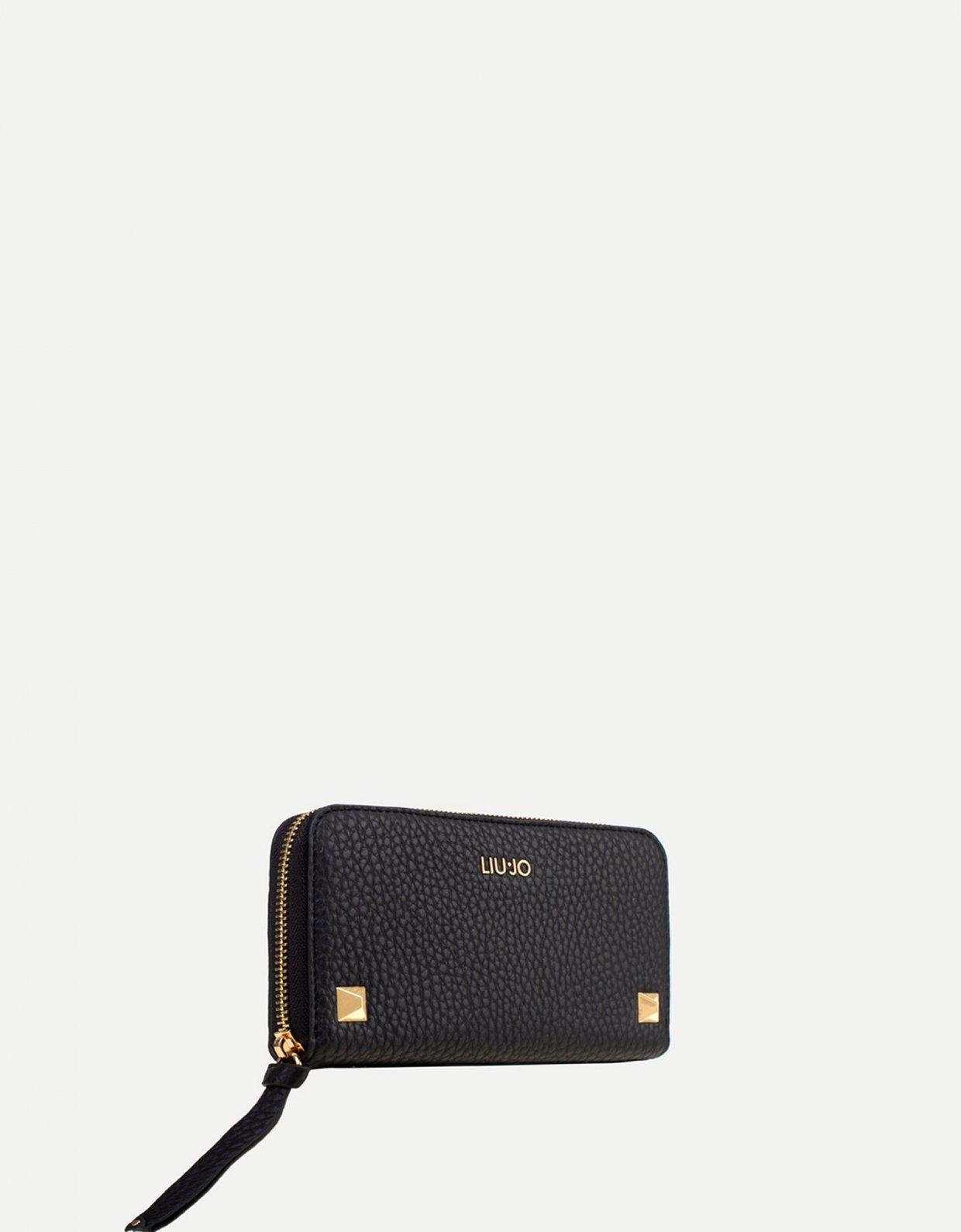 Liu Jo Large wallet with studs black
