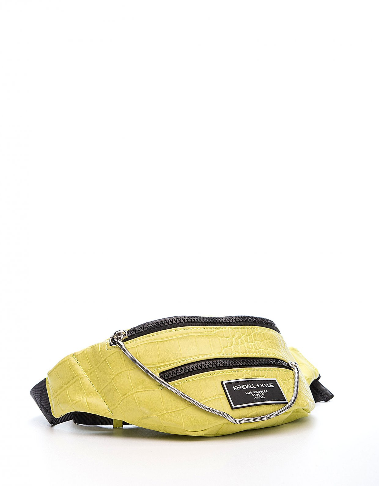 Kendall + Kylie Ashlee fanny pack lime green croco
