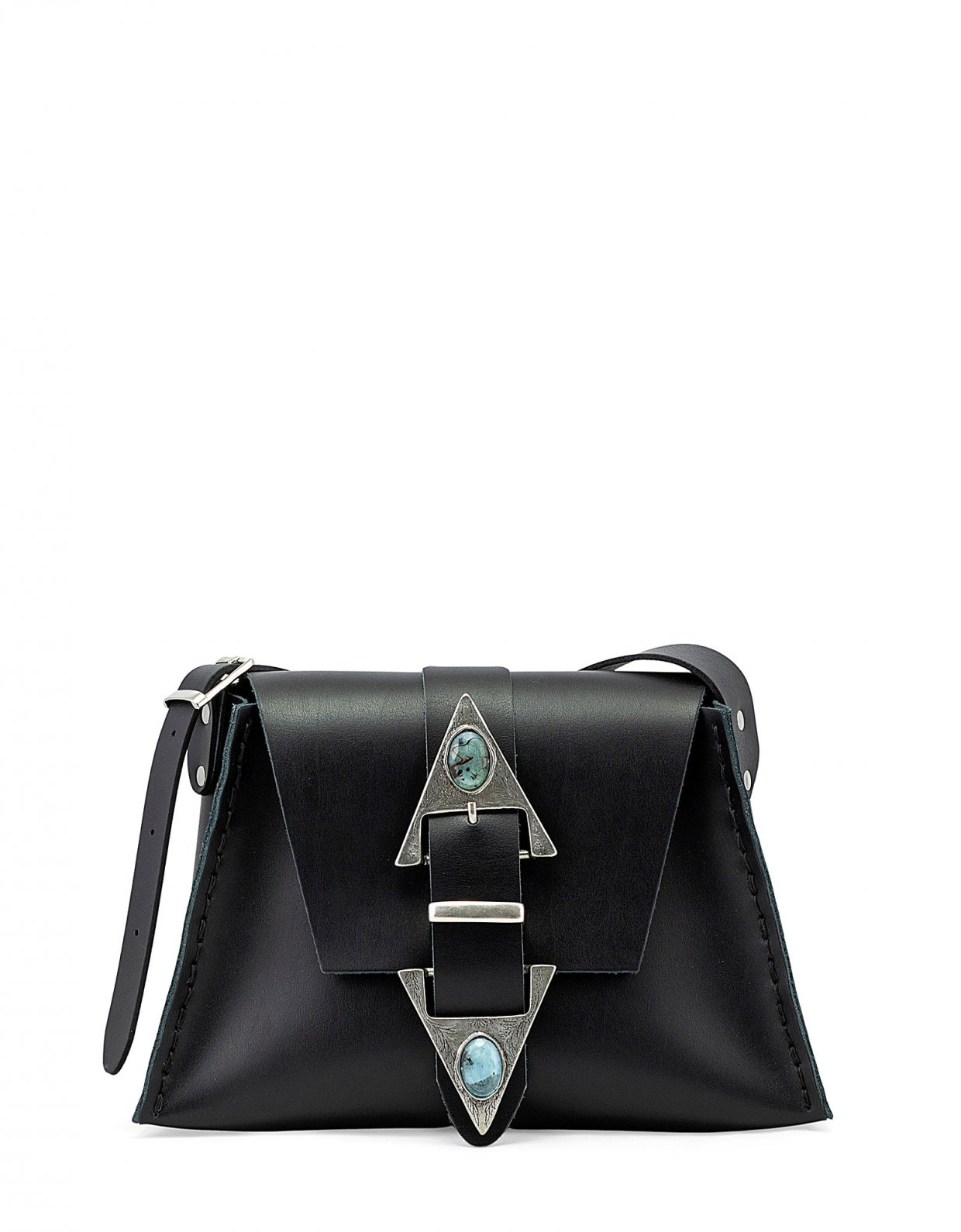 Individual Art Leather Dance monkey bag black
