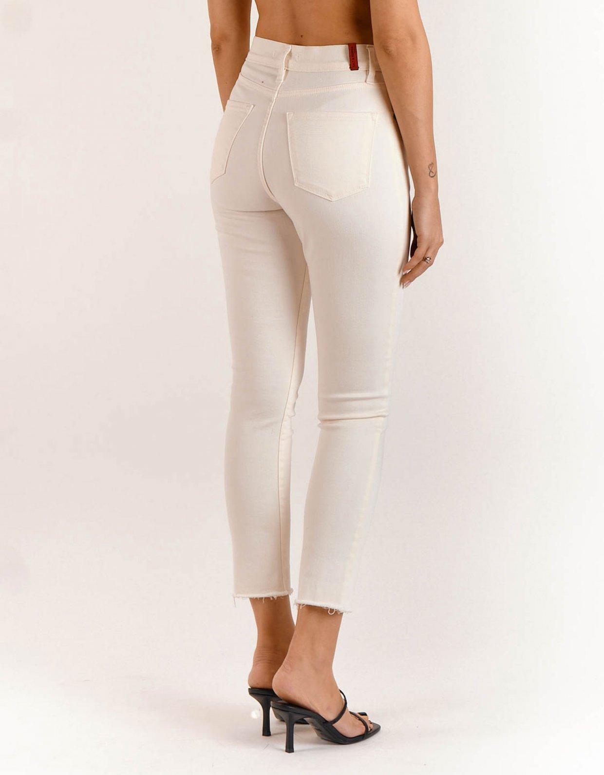 Salt & Pepper Kate off-white cropped denim pants