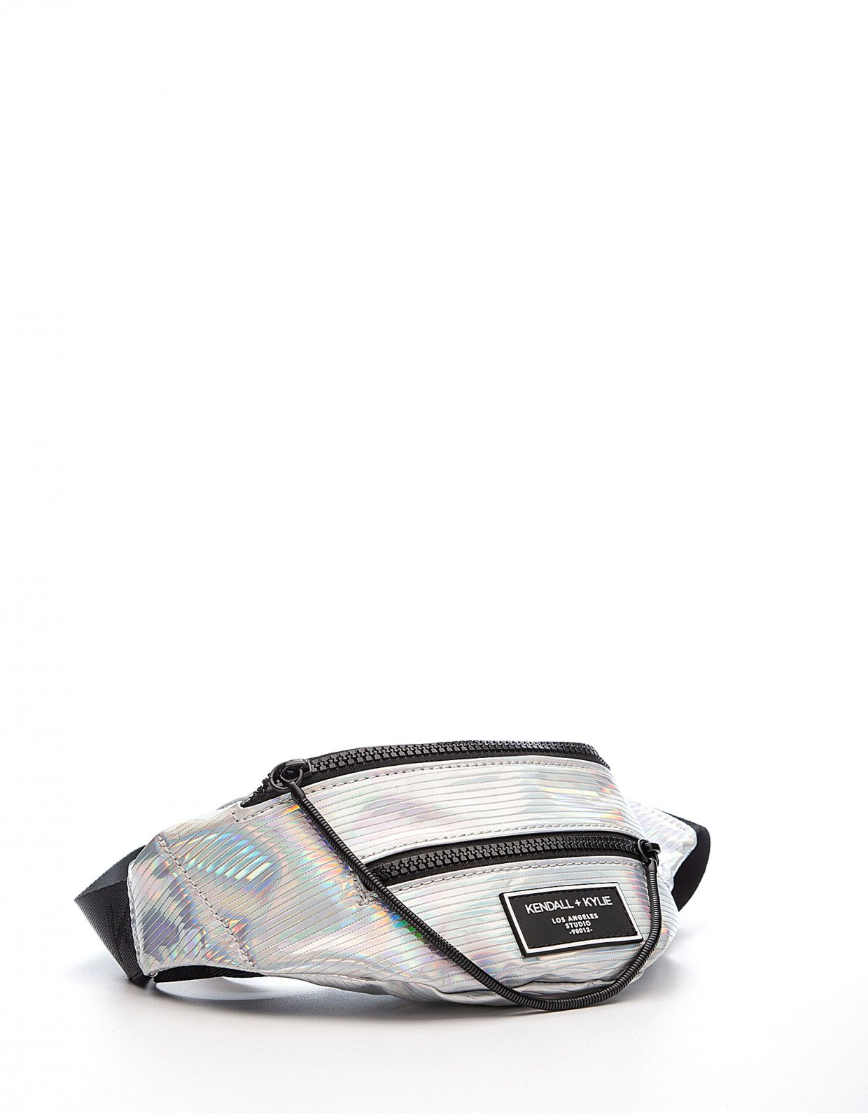 Kendall + Kylie Ashlee fanny pack iridescent striped