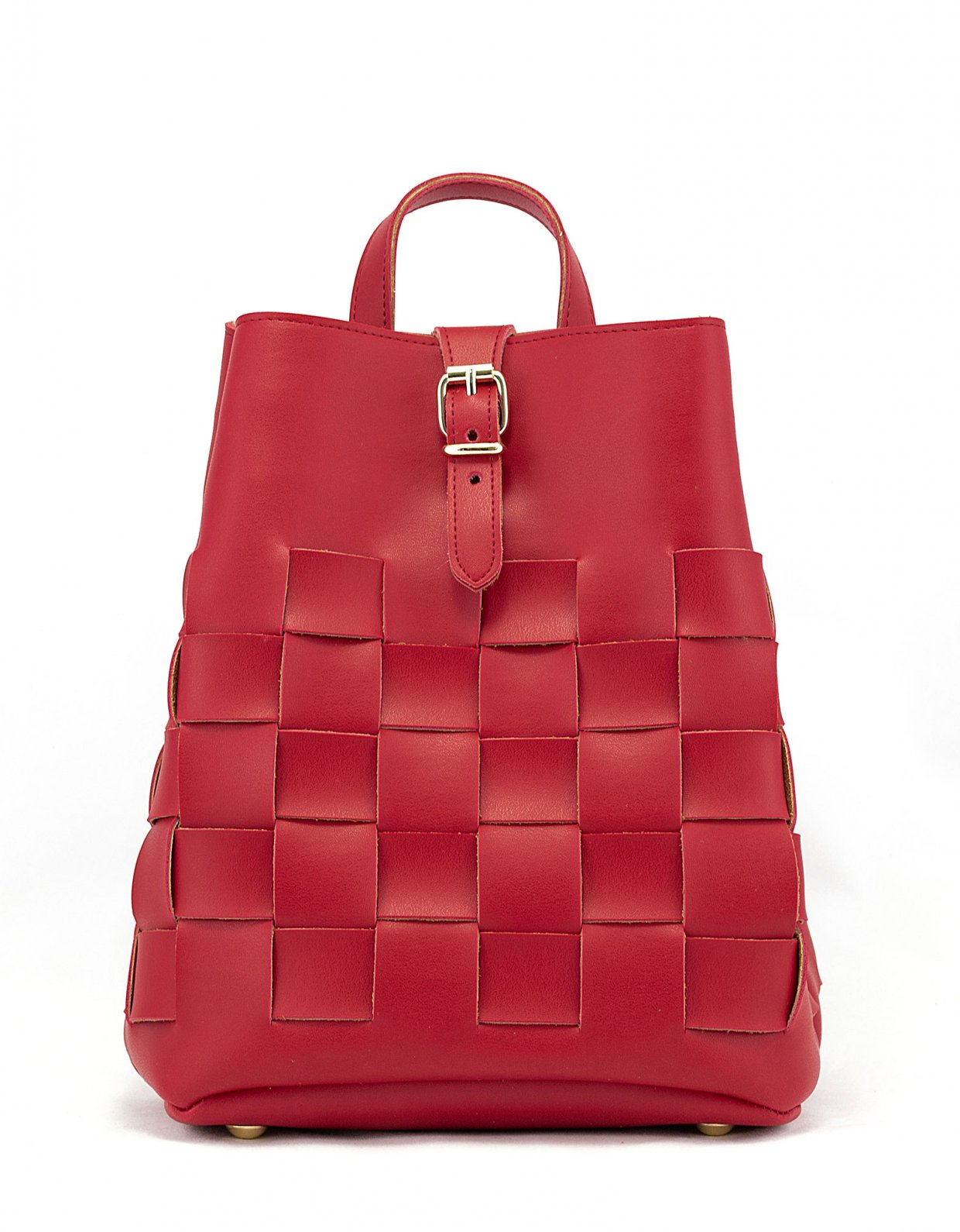 Elena Athanasiou Straw backpack red