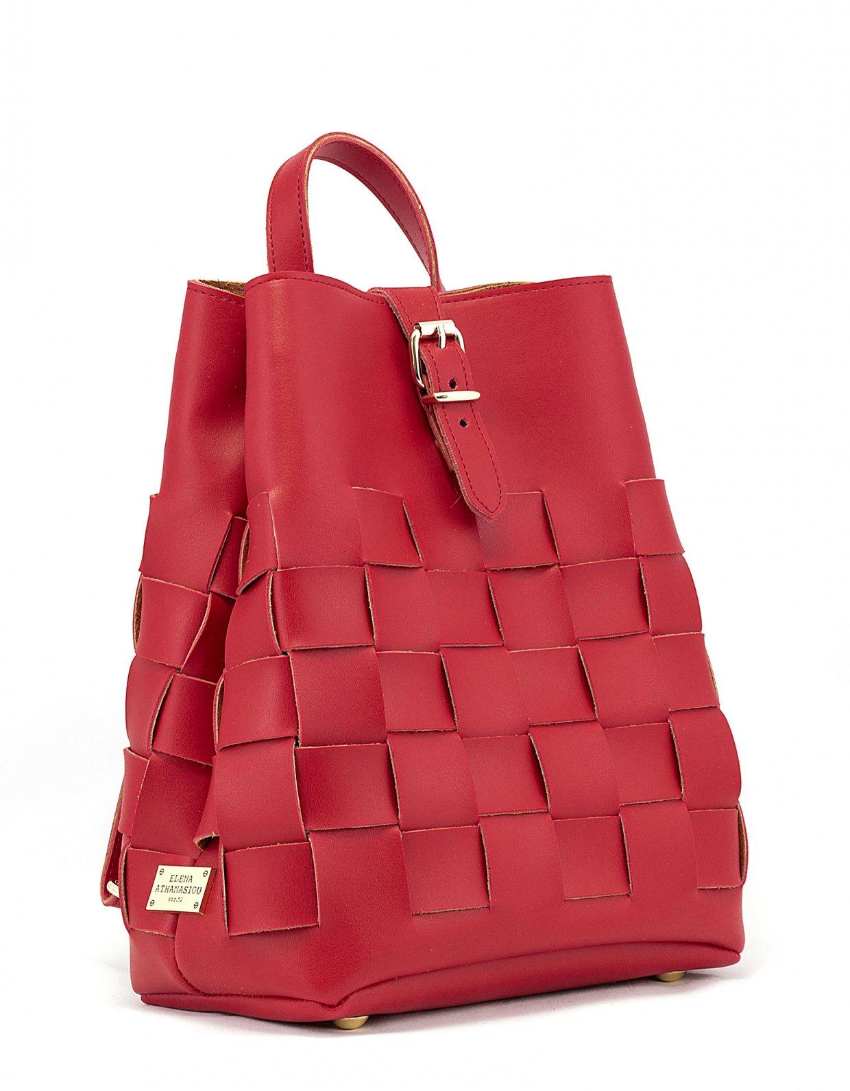 Elena Athanasiou Straw backpack red