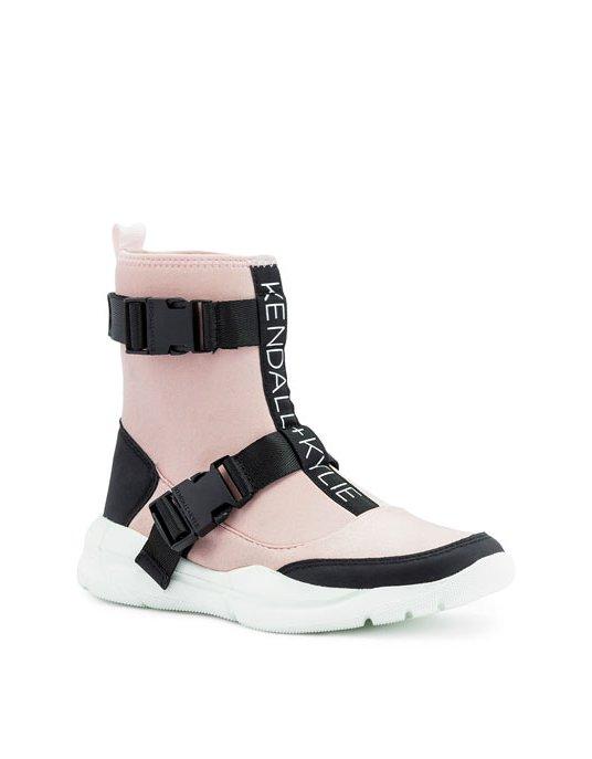 Kendall + Kylie KK Nemo dusty pink sock sneaker boots