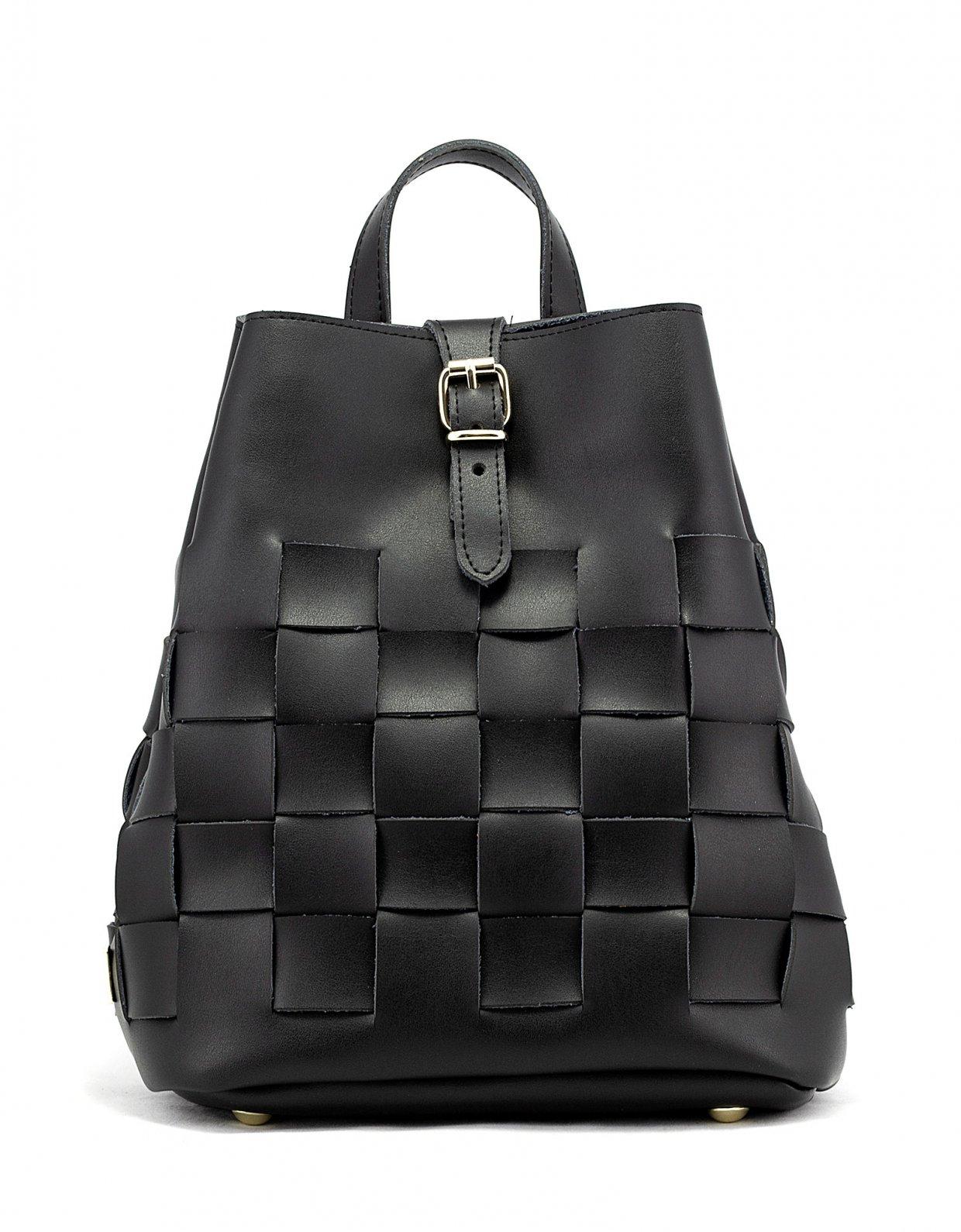 Elena Athanasiou Straw backpack black