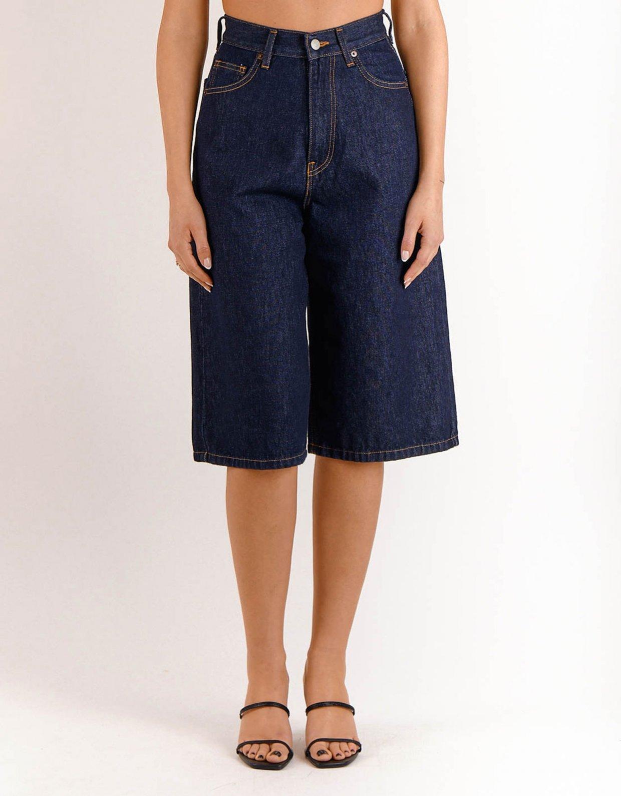Salt & Pepper Serena raw bermuda shorts