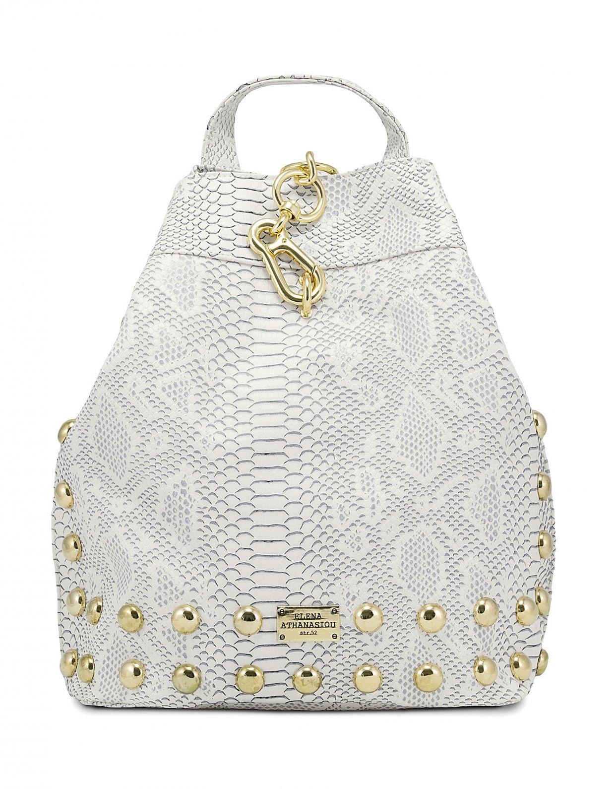 Elena Athanasiou Backpack snake white gold