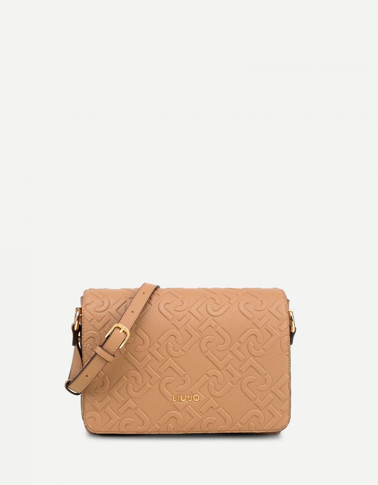 Liu Jo Messenger bag with logo Indian tan