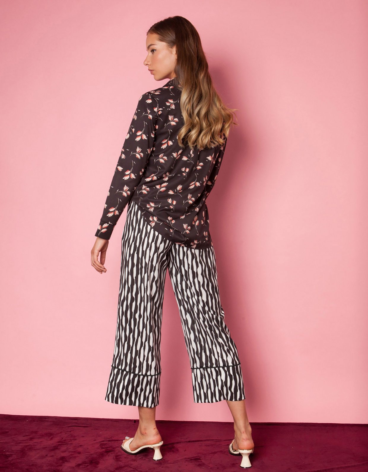 Mallory the label Marl black and white pants